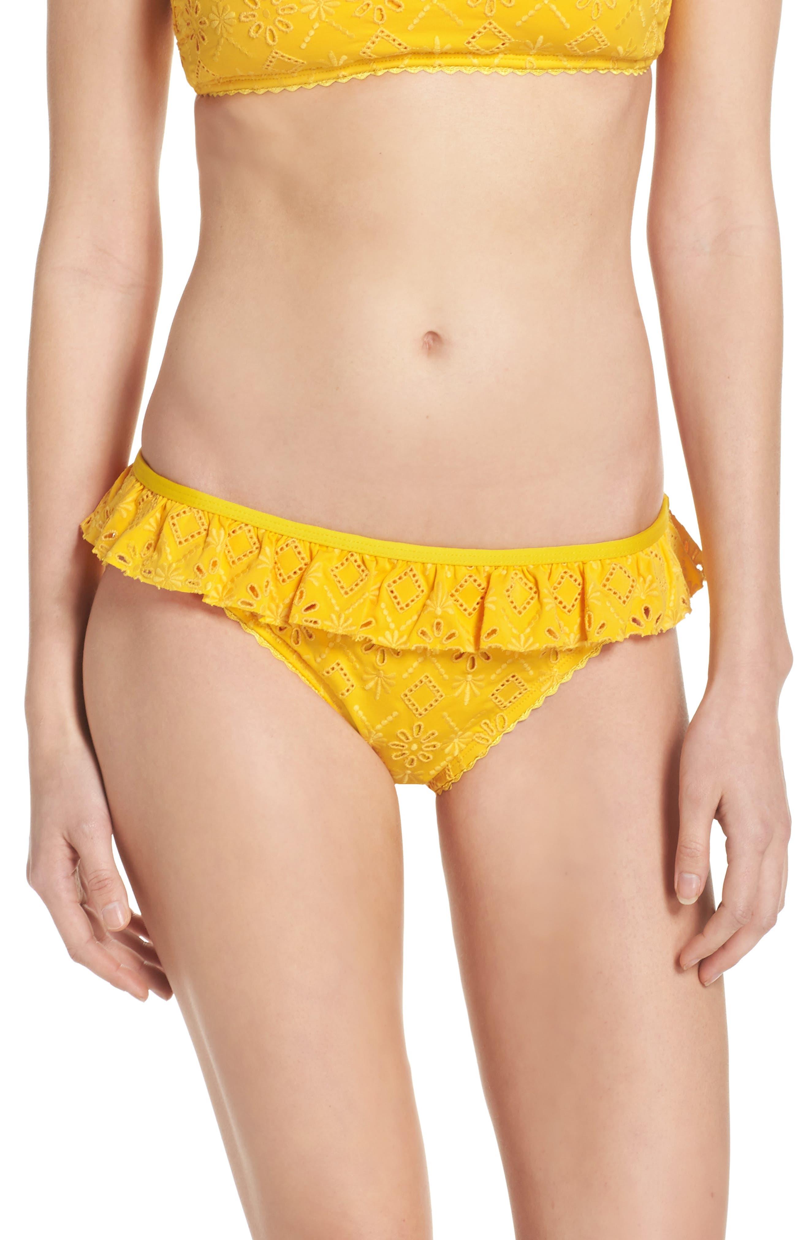 kate spade new york ruffle bikini bottoms