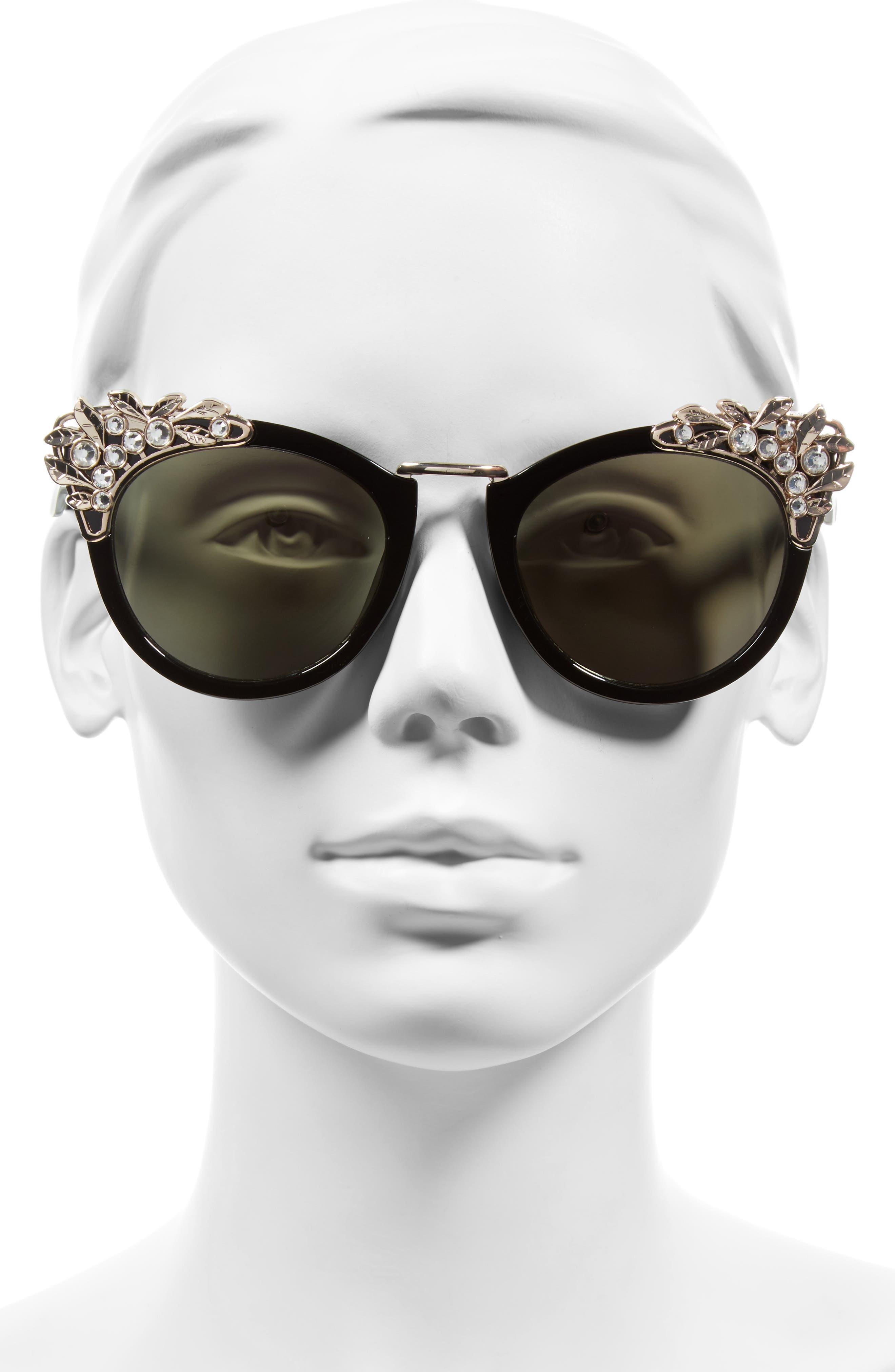 Alternate Image 2  - BP. Optical Illusion 56mm Embellished Cat Eye Sunglasses