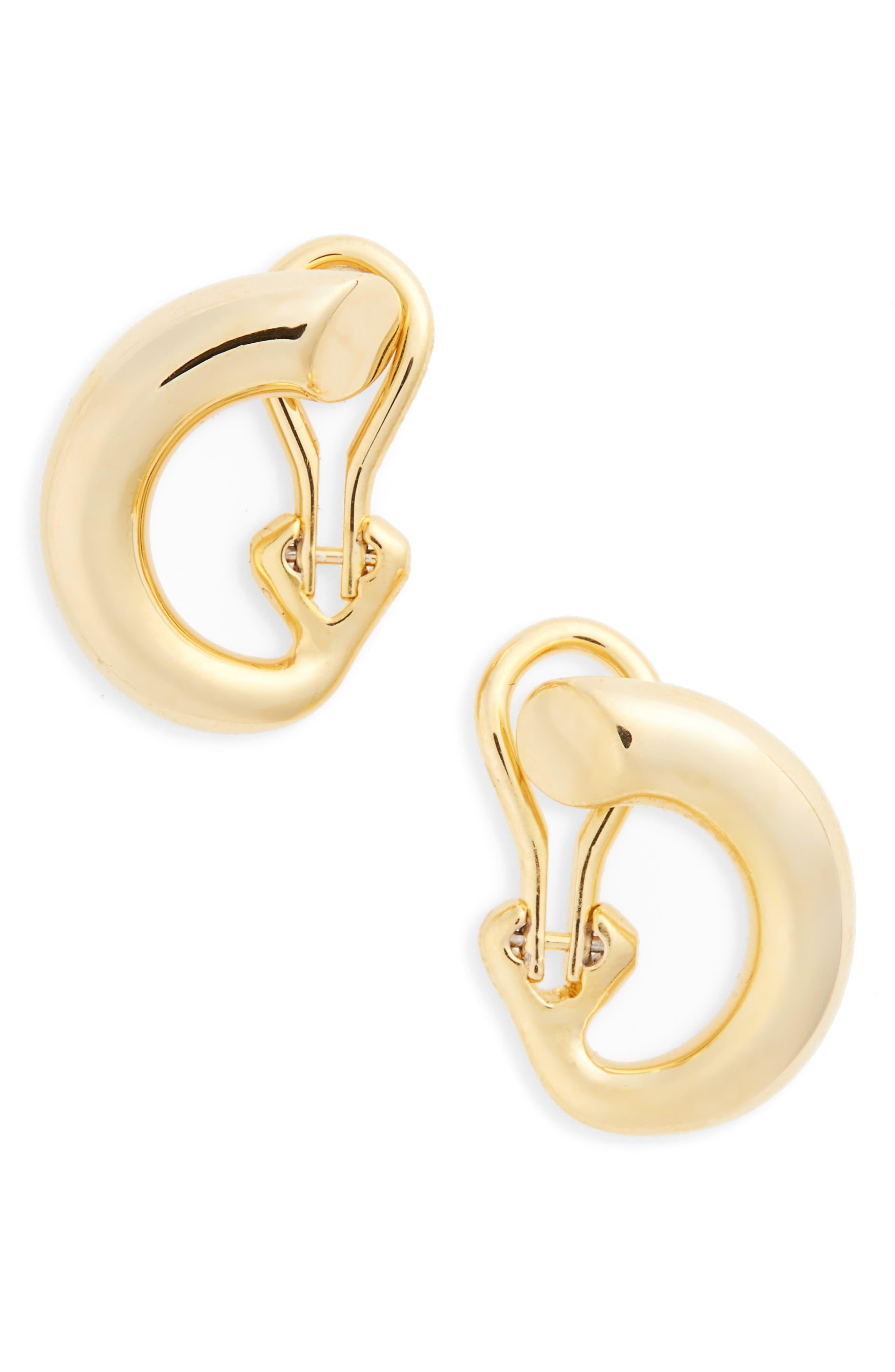 Alternate Image 1 Selected - Charlotte Chesnais Monie Small Vermeil Hoop Earrings