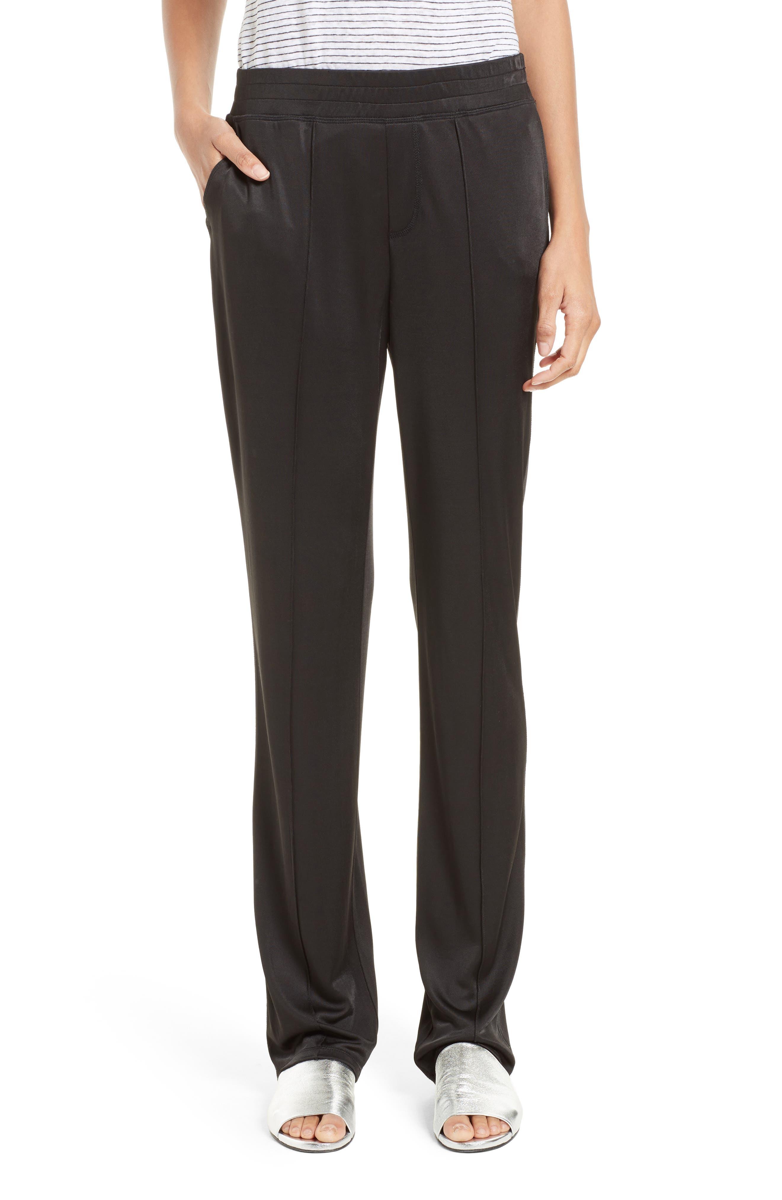 Interlock Track Pants,                         Main,                         color, Black