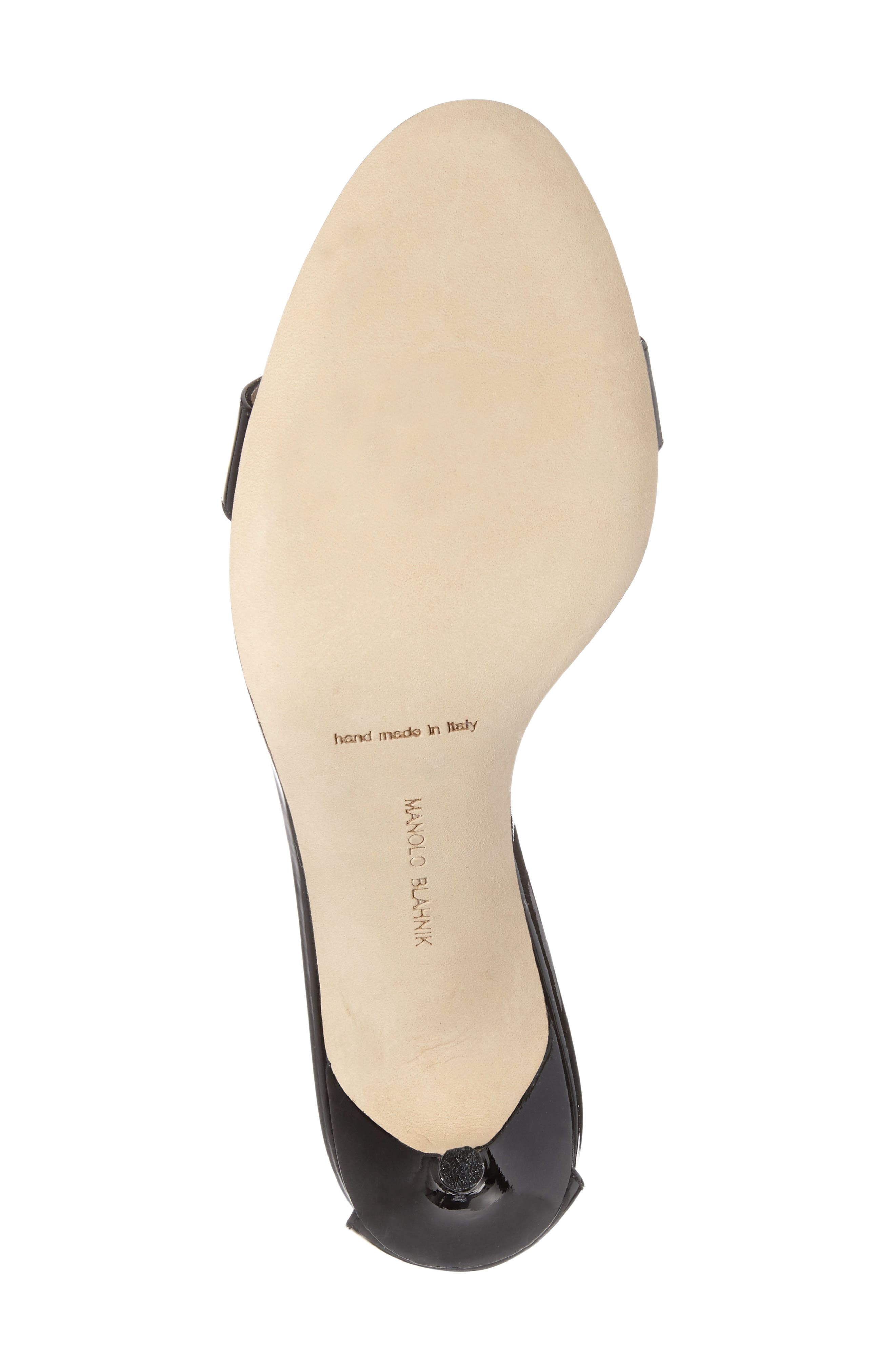 'Chaos' Ankle Strap Sandal,                             Alternate thumbnail 6, color,                             Black Patent