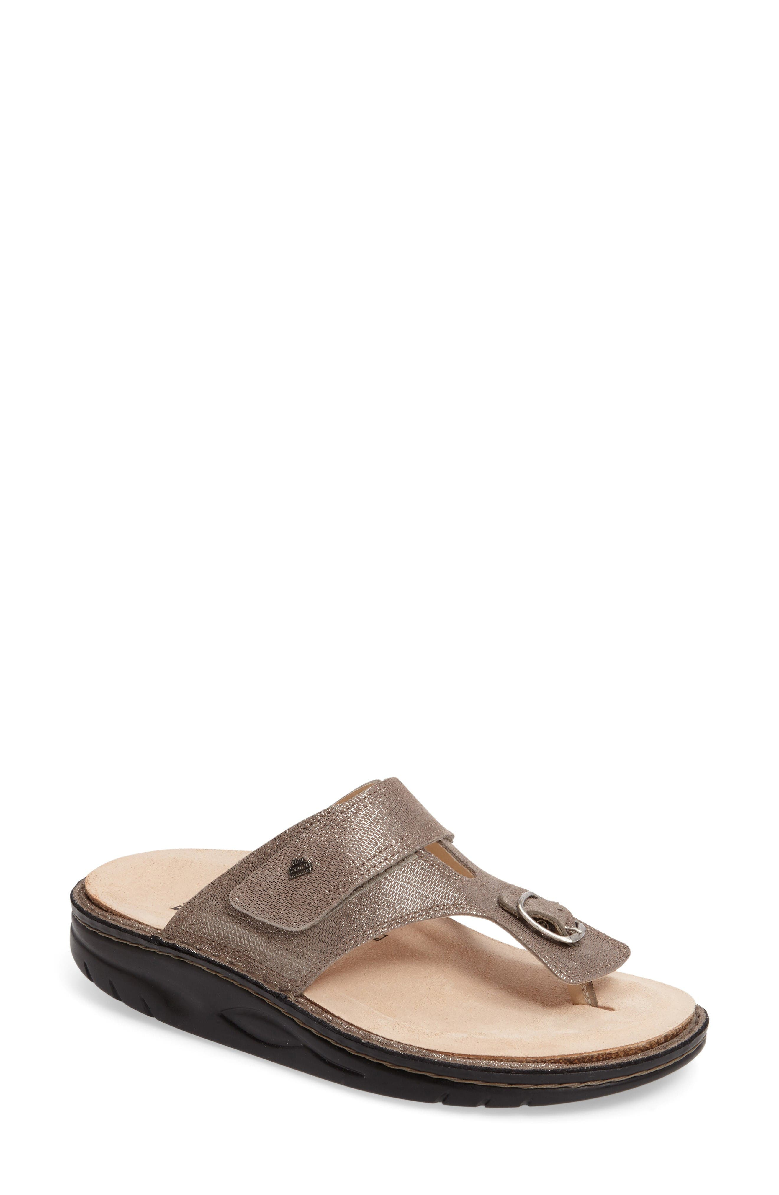 Calmasino Finnamic Flip Flop,                         Main,                         color, Fango Leather