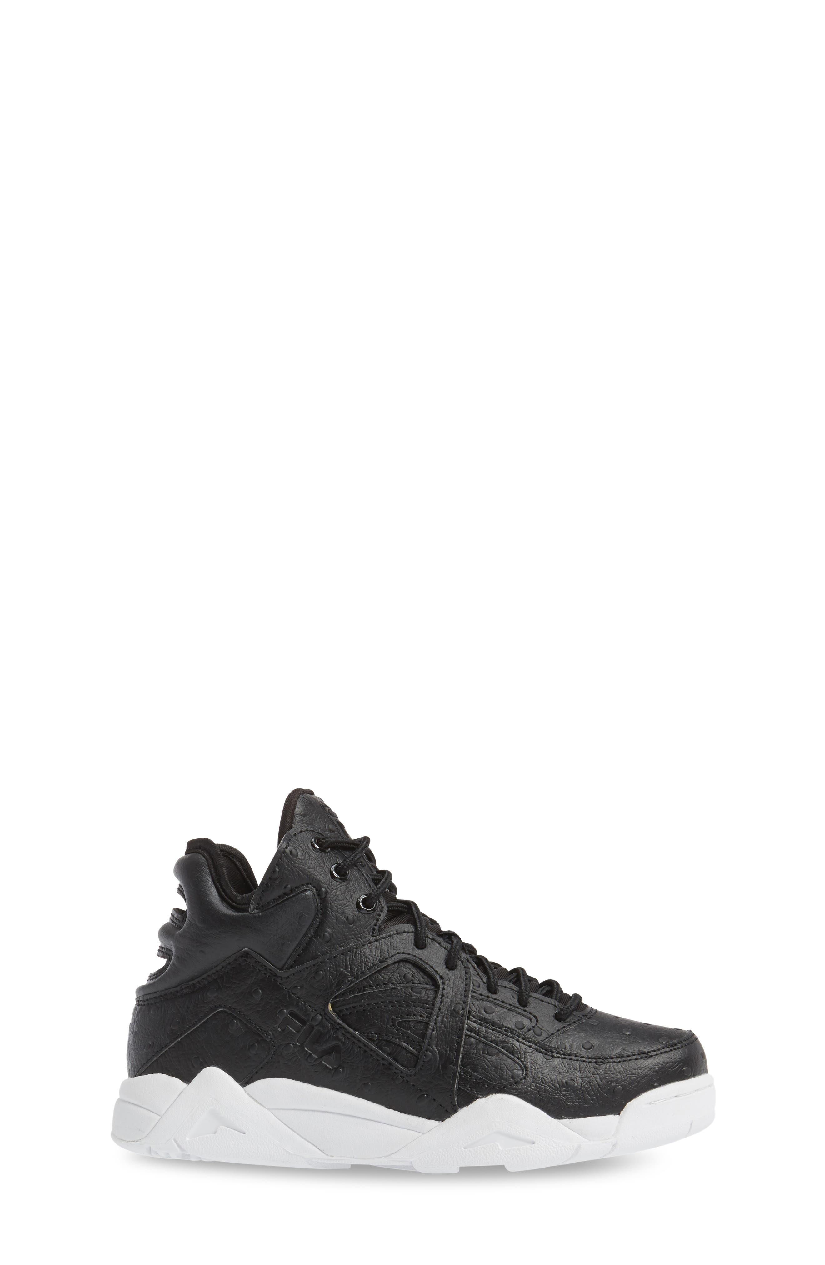 The Cage Ostrich Sneaker,                             Alternate thumbnail 3, color,                             Black