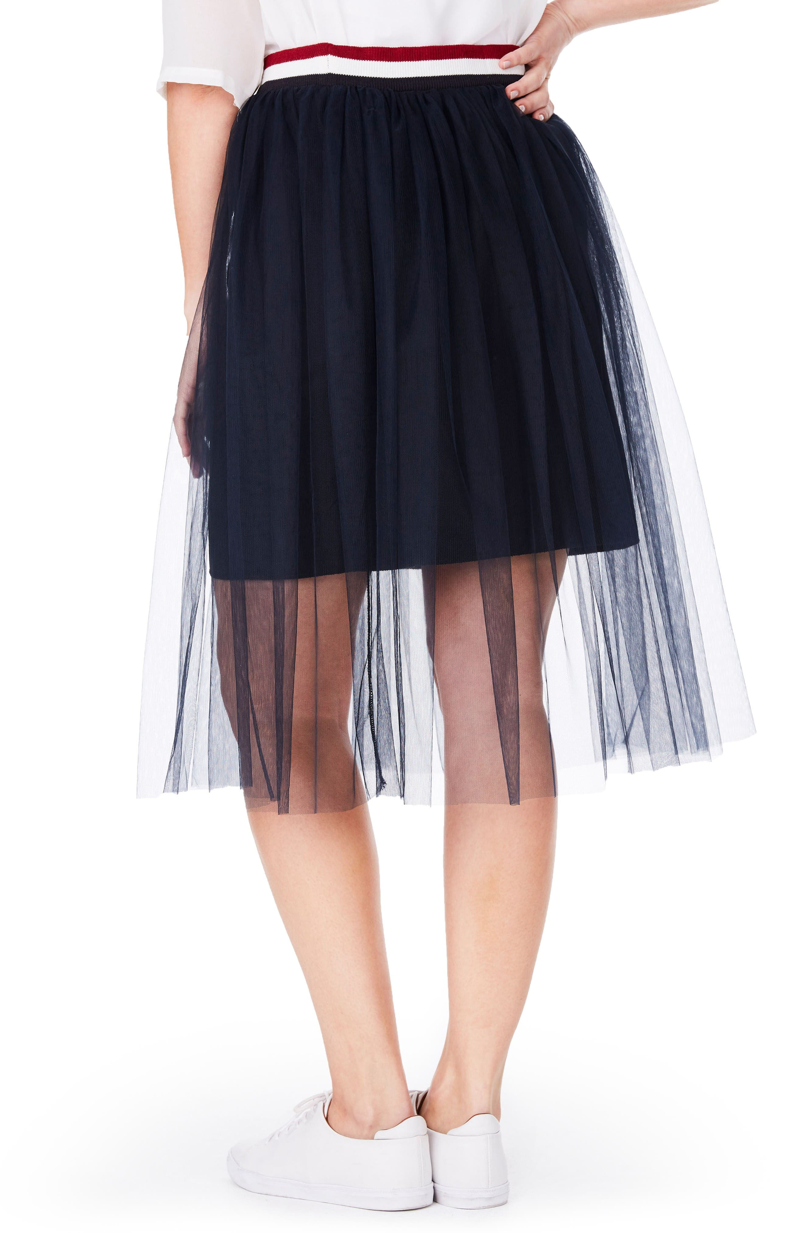 Tulle Skirt,                             Alternate thumbnail 2, color,                             Navy