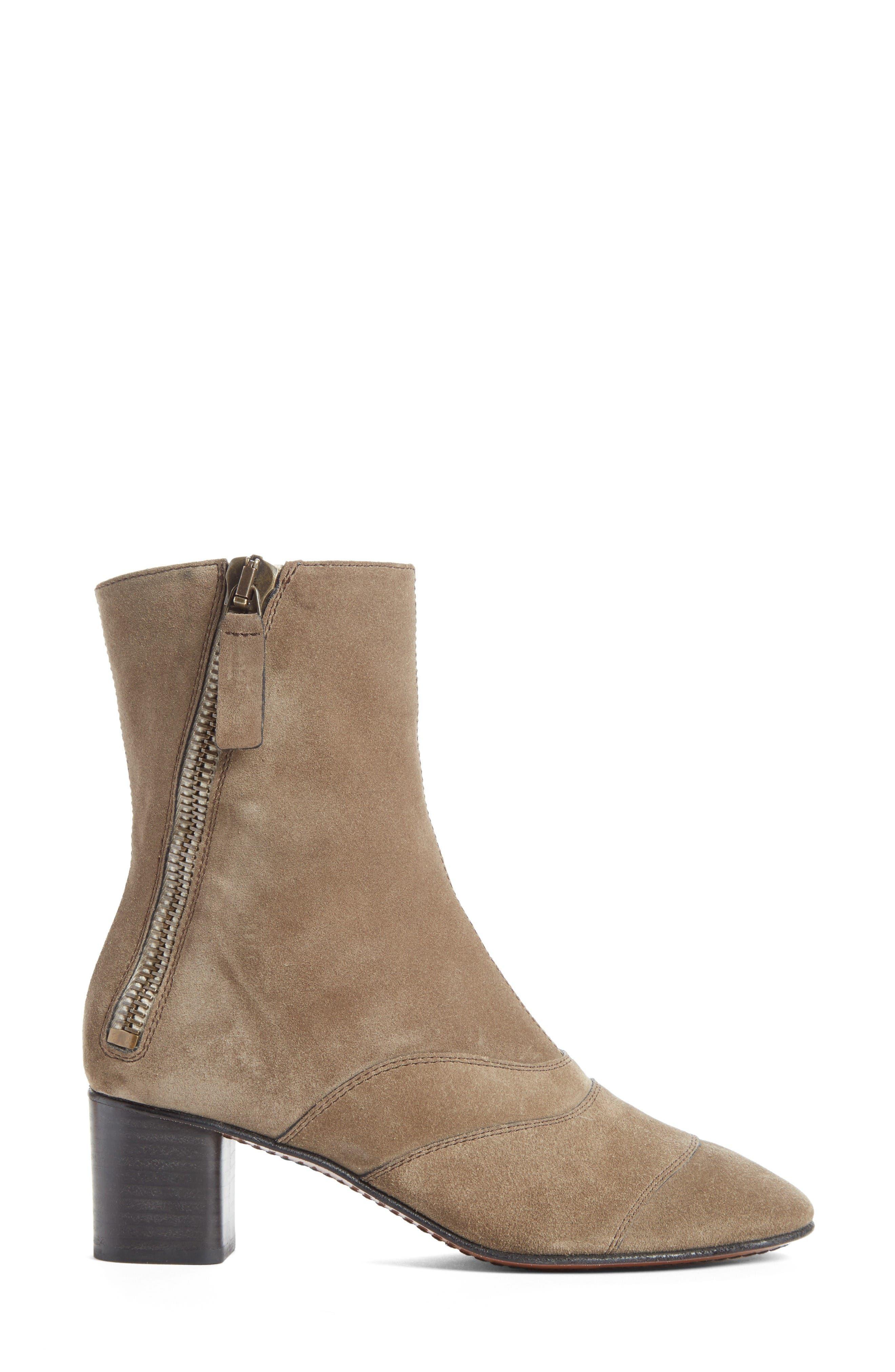 Lexie Block Heel Boot,                             Alternate thumbnail 4, color,                             Dark Greige