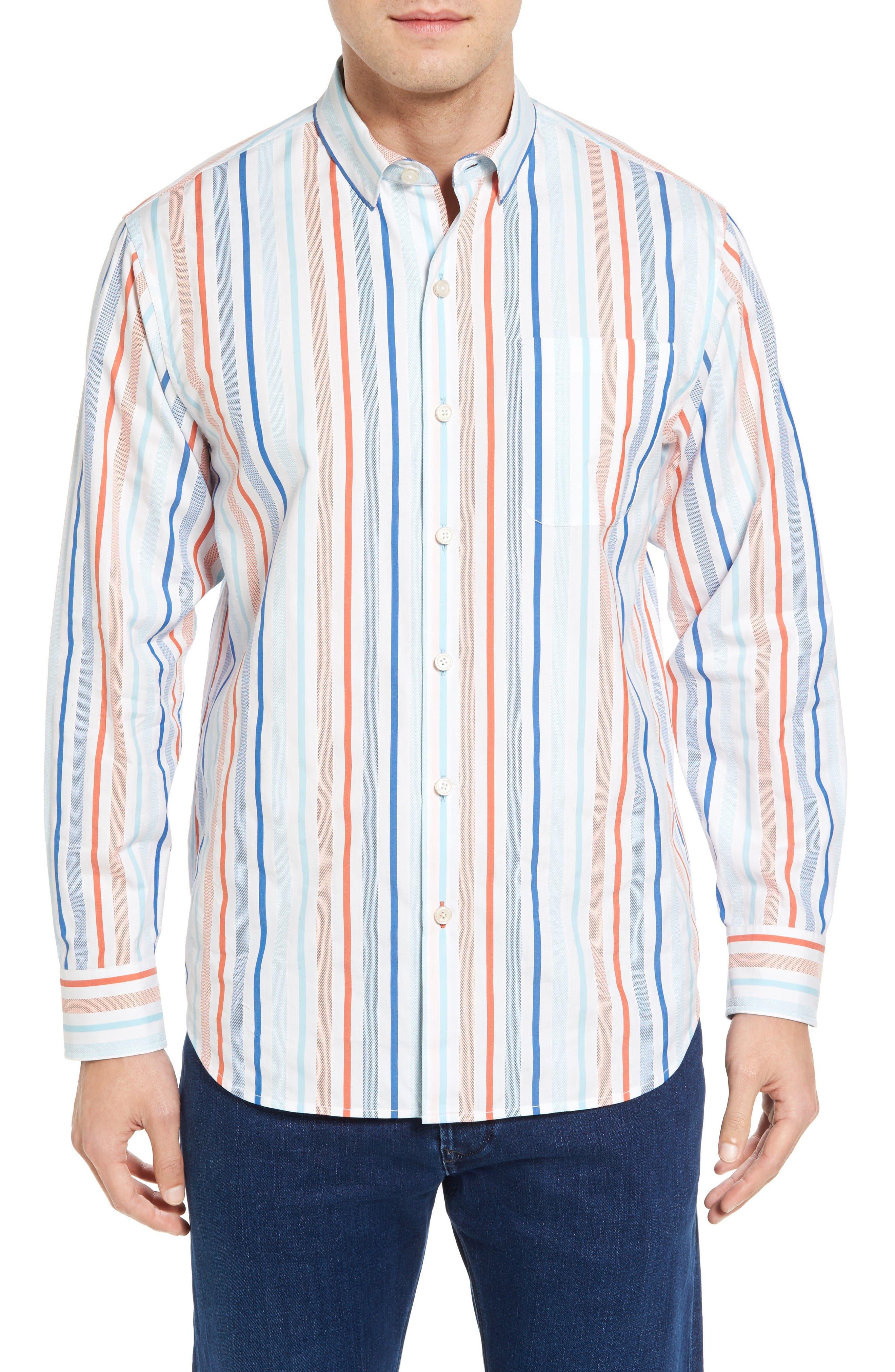 Alternate Image 1 Selected - Tommy Bahama Demeter Stripe Sport Shirt