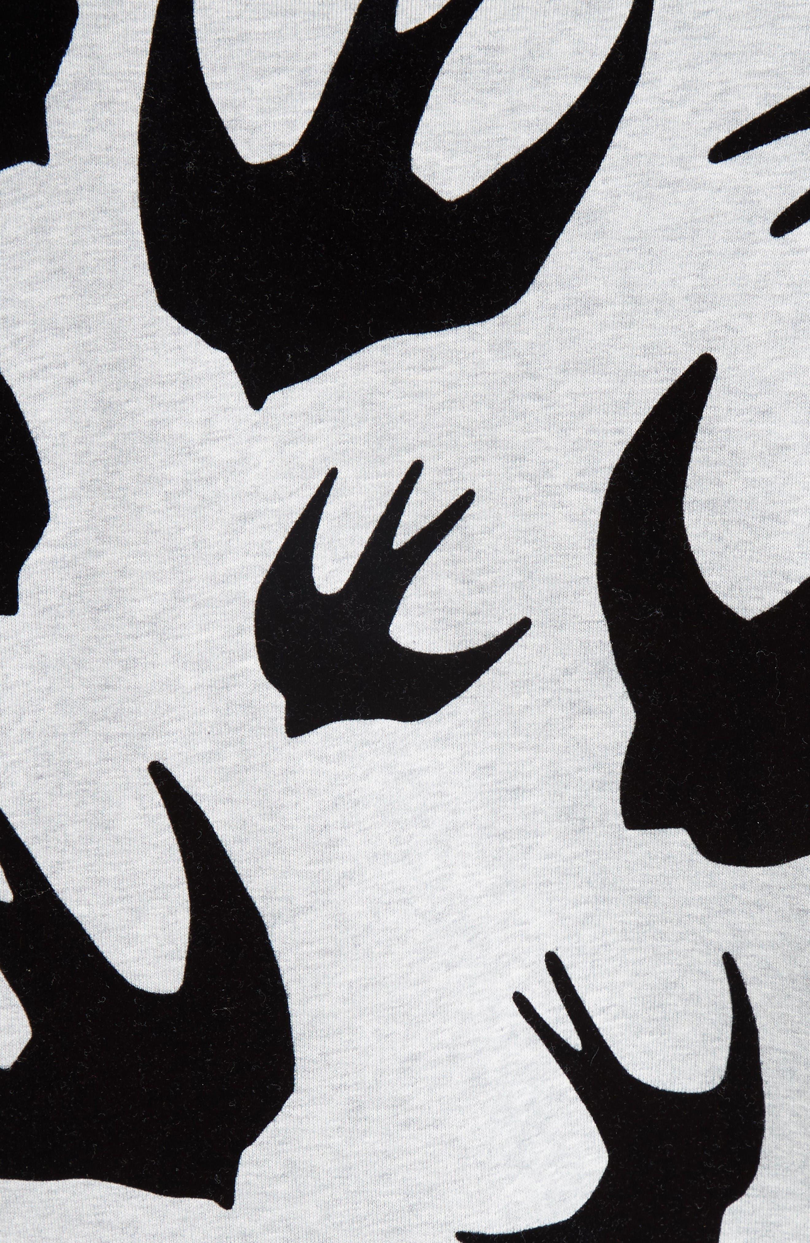 Alternate Image 5  - McQ Alexander McQueen Flocked Swallow Sweatshirt