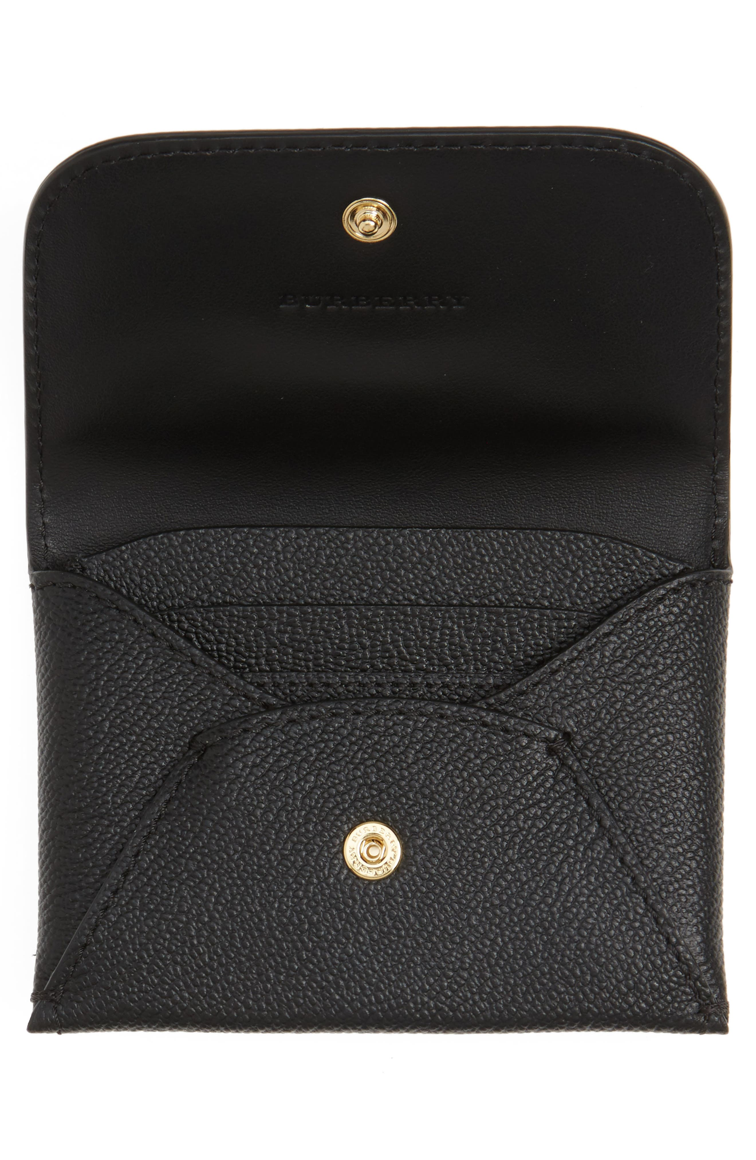 Mayfield Leather Card Case,                             Alternate thumbnail 2, color,                             Black