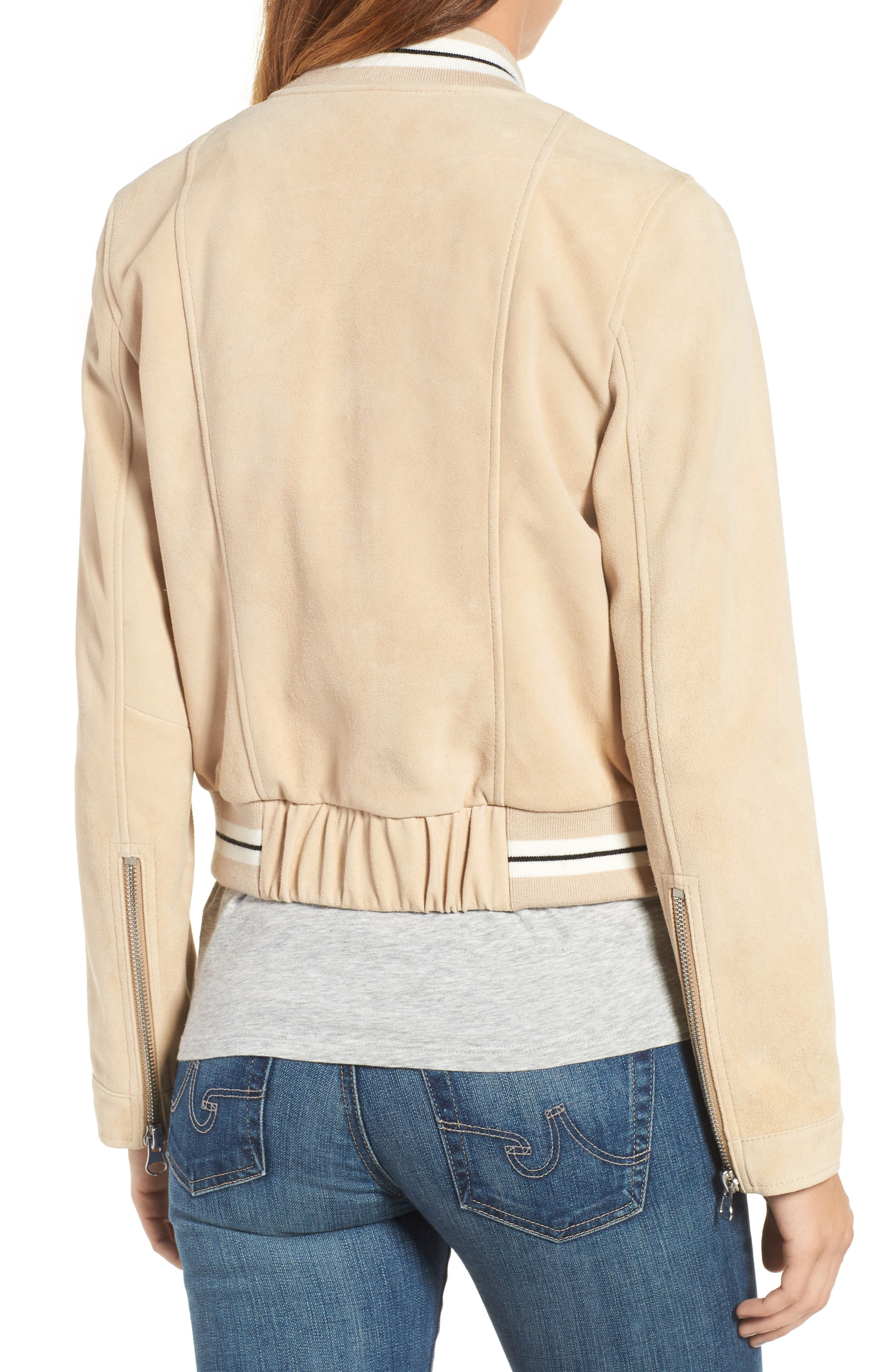 Alternate Image 2  - Derek Lam 10 Crosby Suede Varsity Jacket