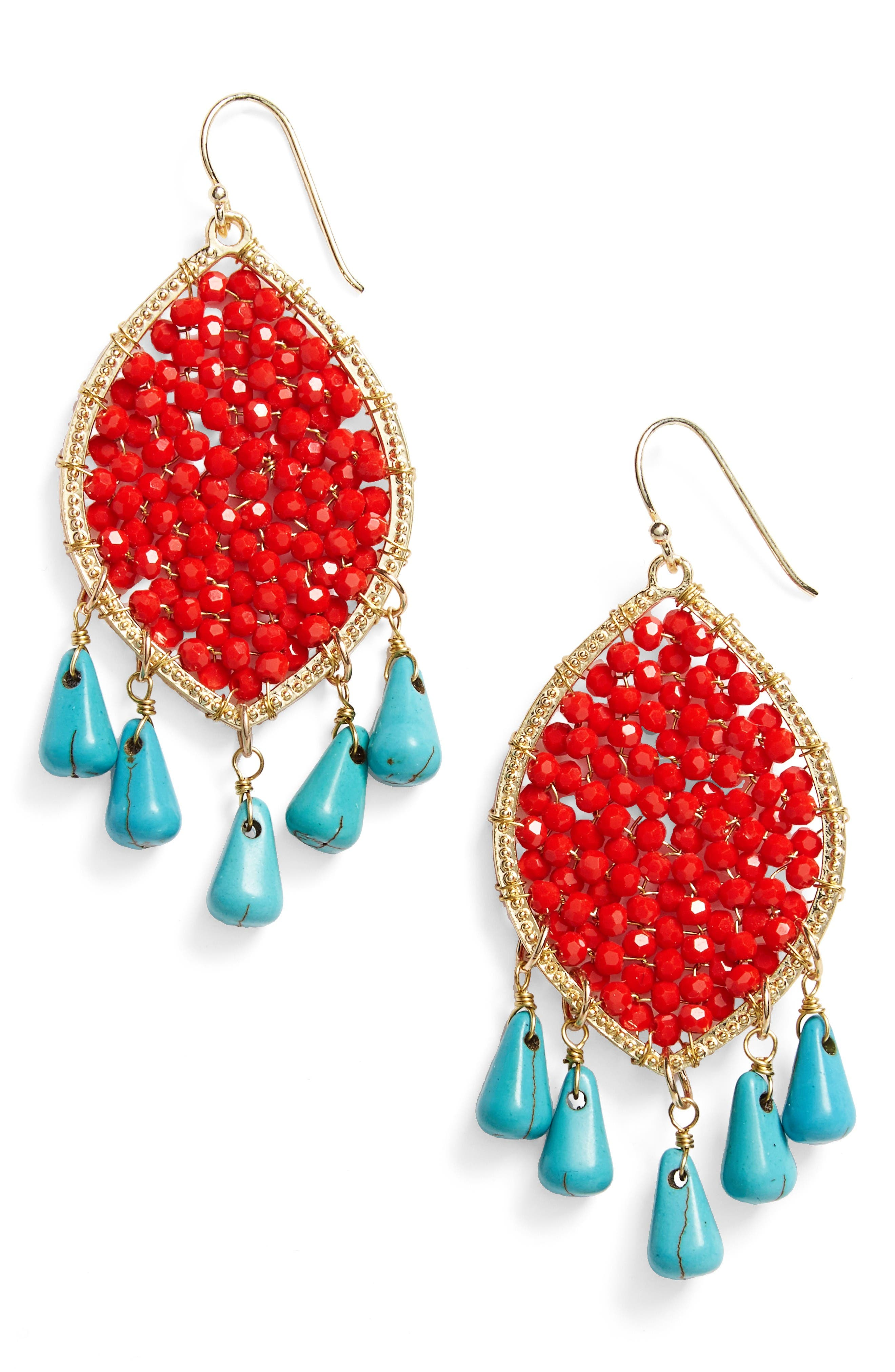 Panacea Beaded Drop Earrings