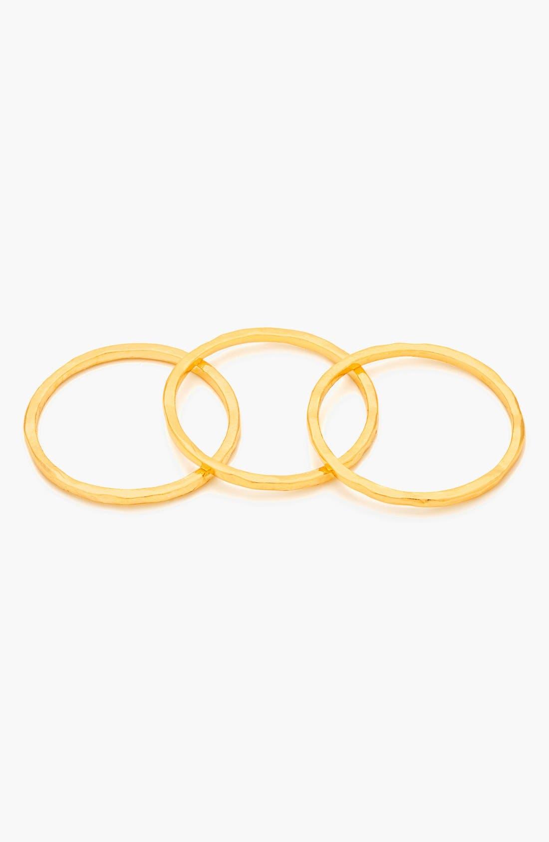 Alternate Image 4  - gorjana 'G Ring' Hammered Stack Rings (Set of 3)