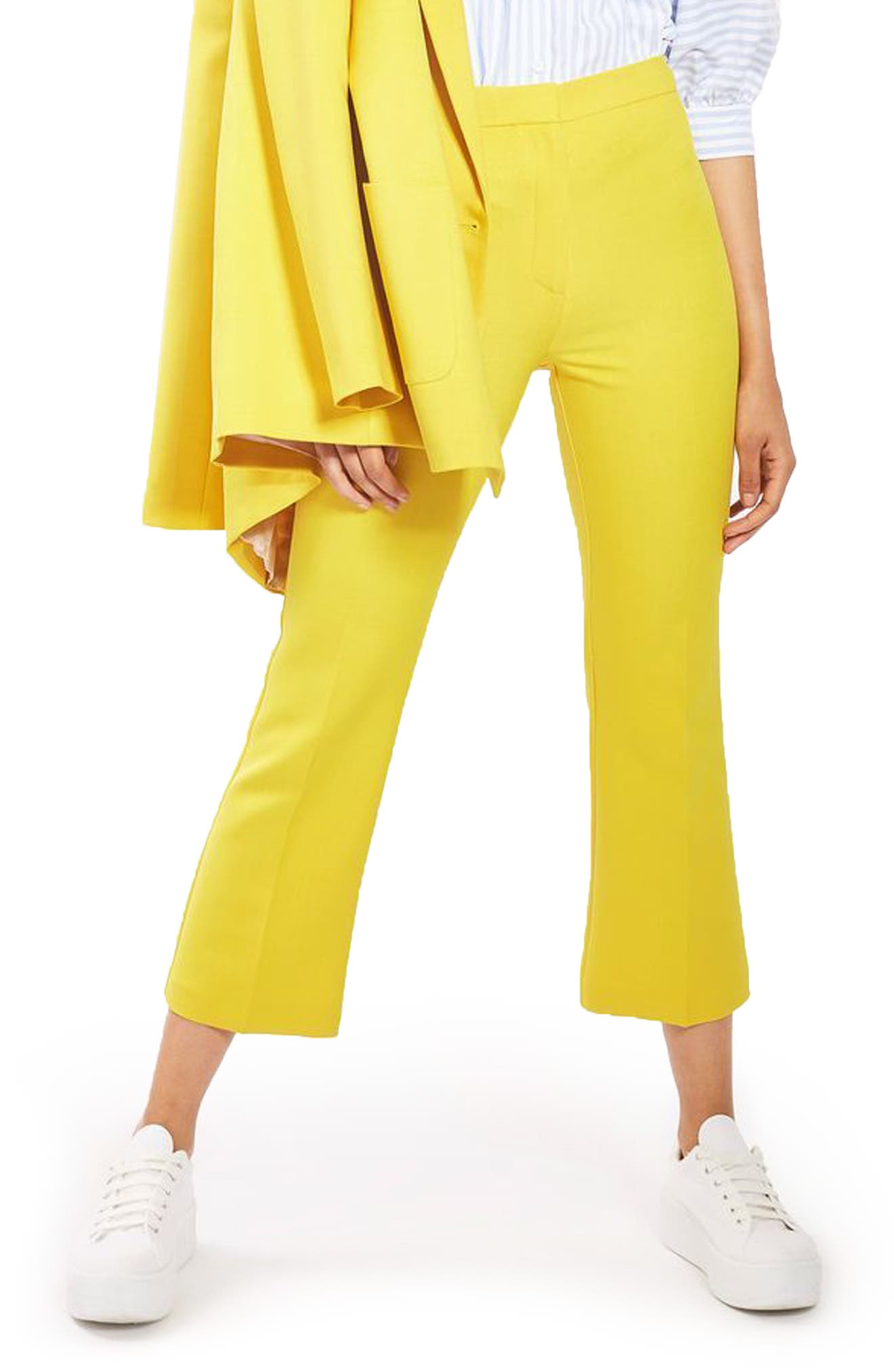 Main Image - Topshop Crop Kick Flare Trousers