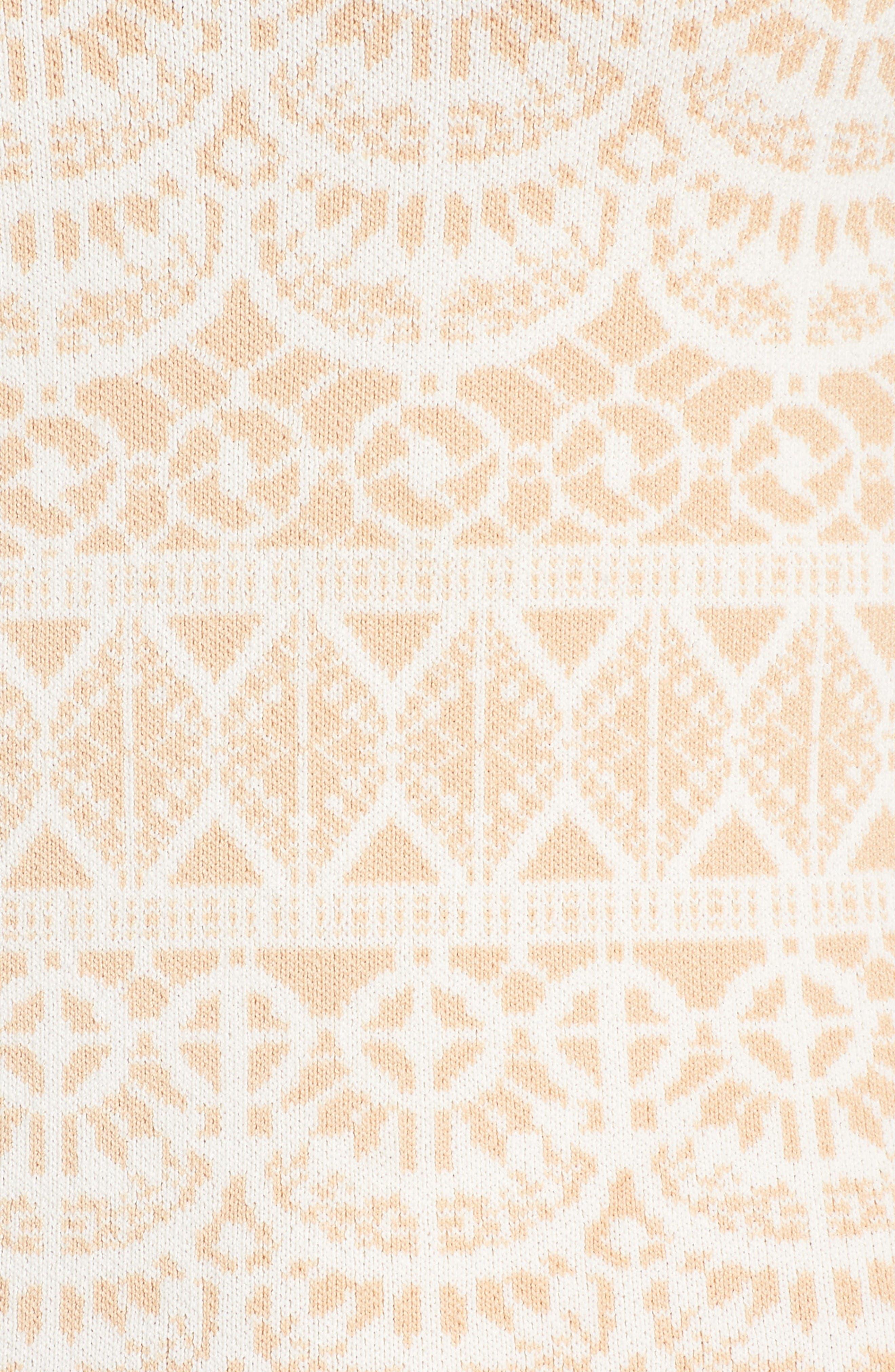 Fete de Fleurs Body-Con Dress,                             Alternate thumbnail 7, color,                             Antique Rose White