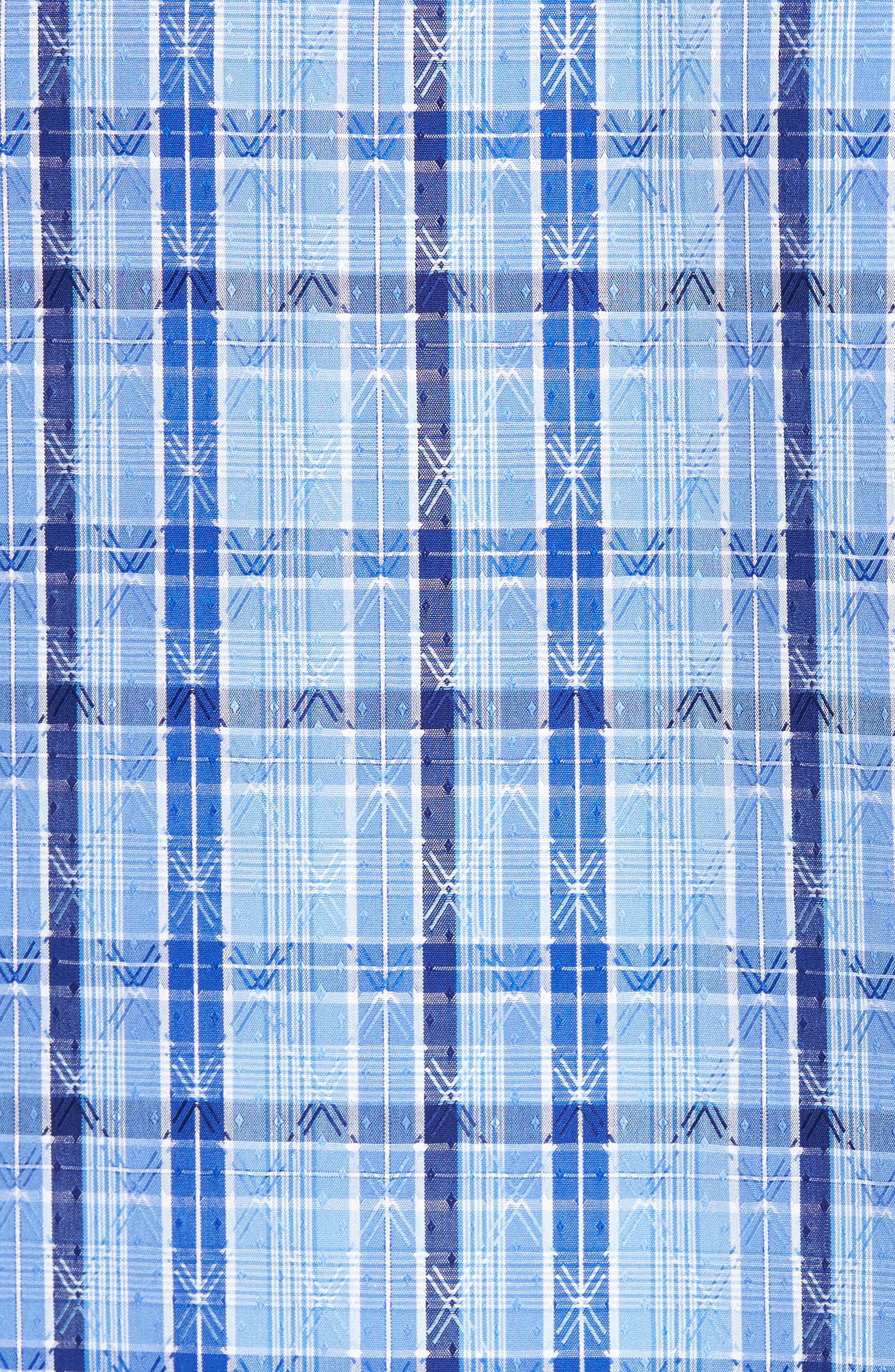 Classic Fit Check Sport Shirt,                             Alternate thumbnail 5, color,                             Classic Blue