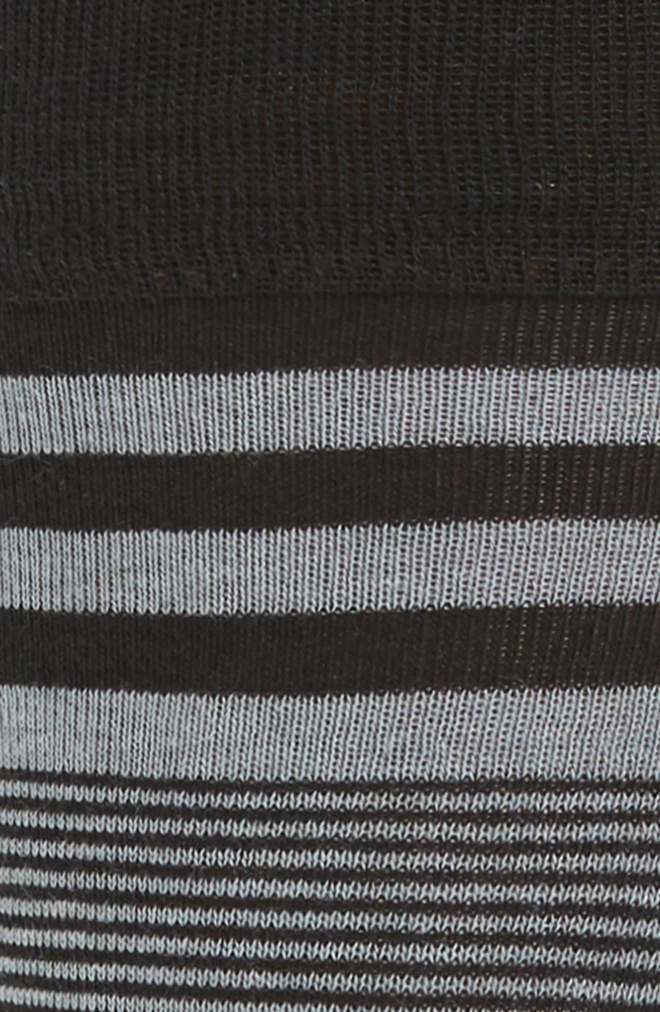 Skater Stripe Socks,                             Alternate thumbnail 2, color,                             Black