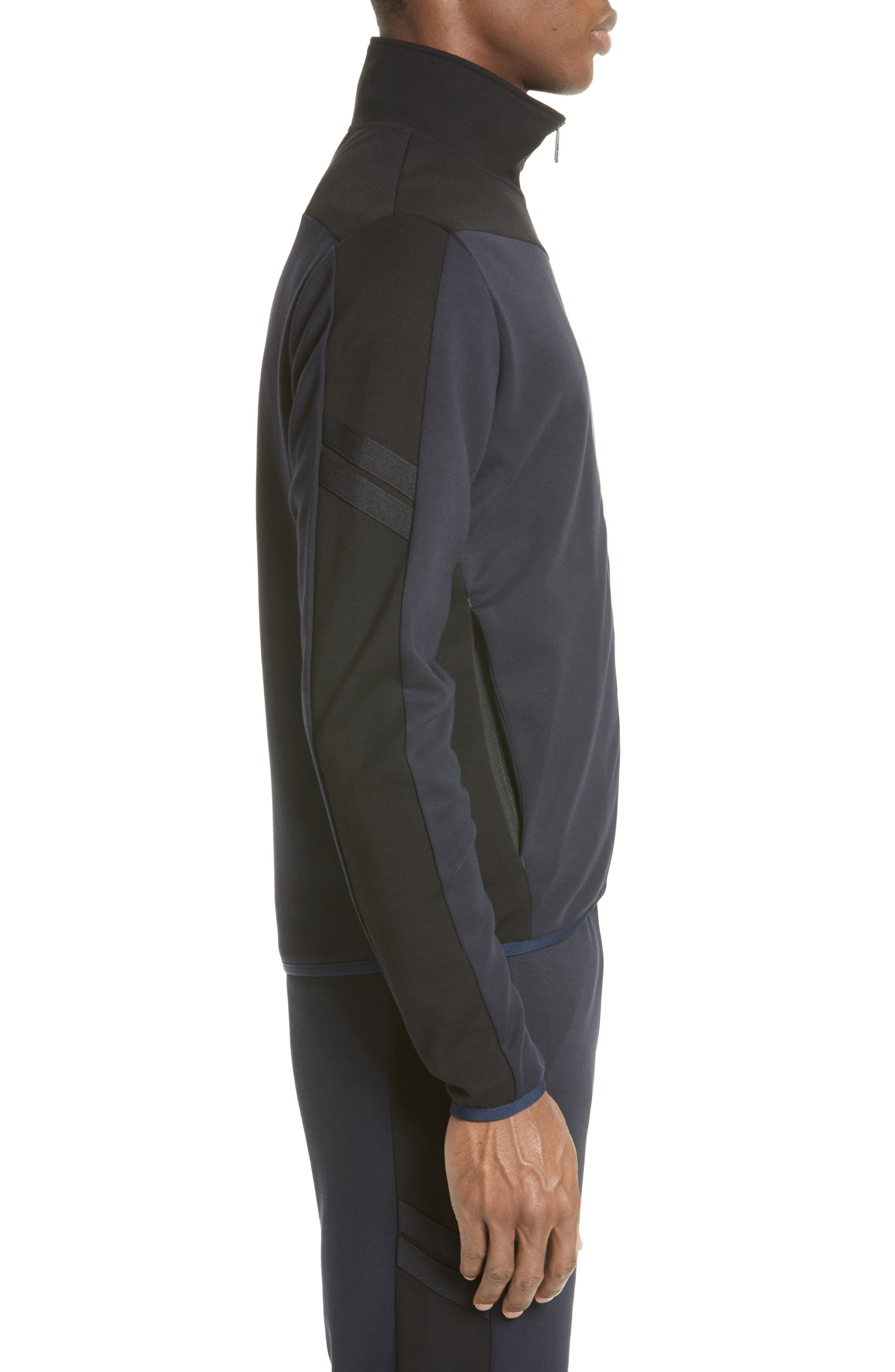 Two-Tone Track Jacket,                             Alternate thumbnail 3, color,                             Navy