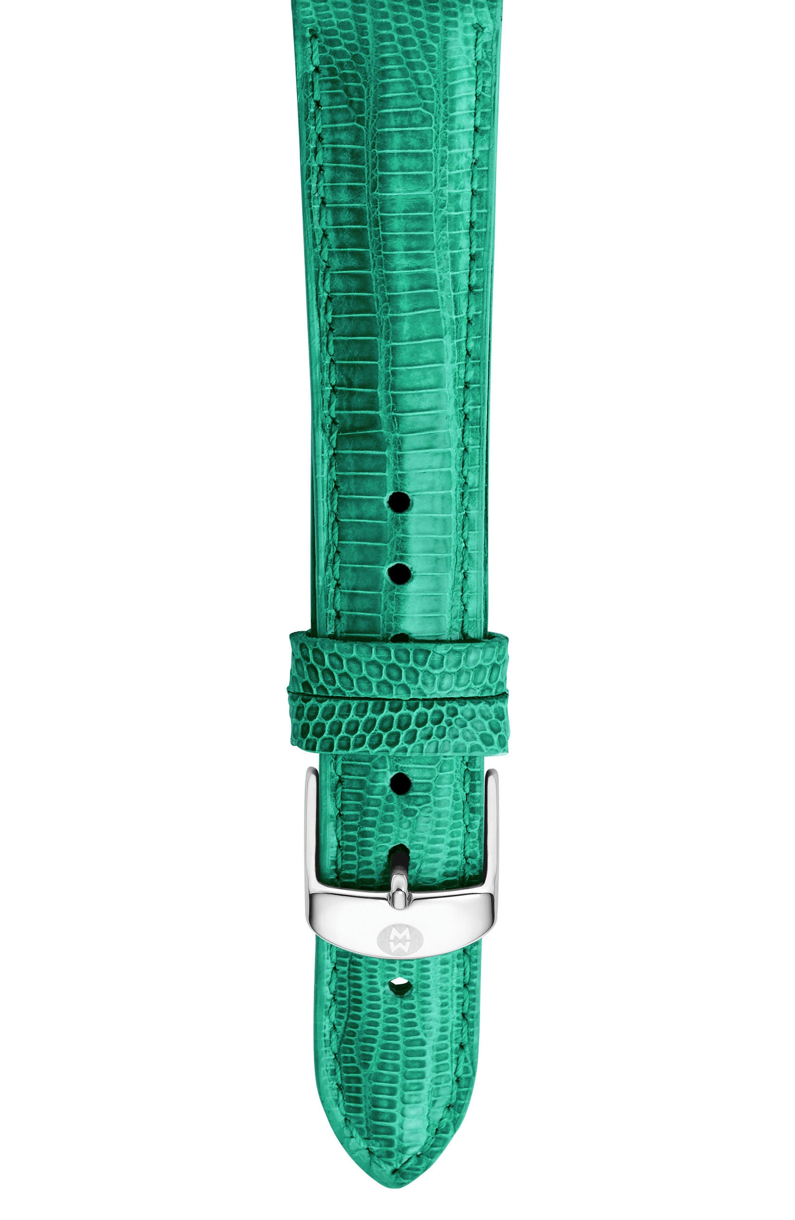 MICHELE 18mm Lizardskin Watch Strap