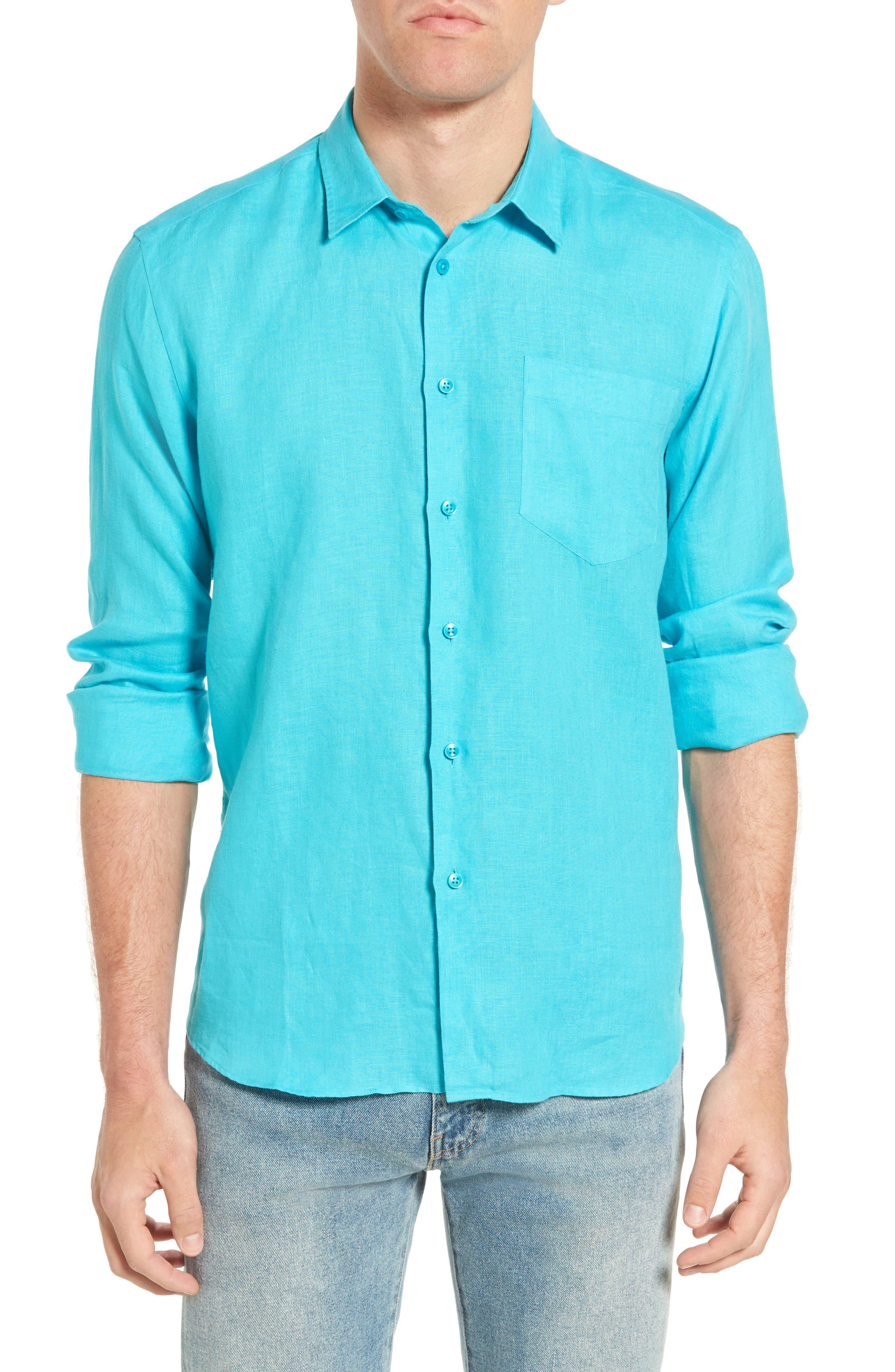 Main Image - Vilebrequin Caroubie Regular Fit Linen Sport Shirt