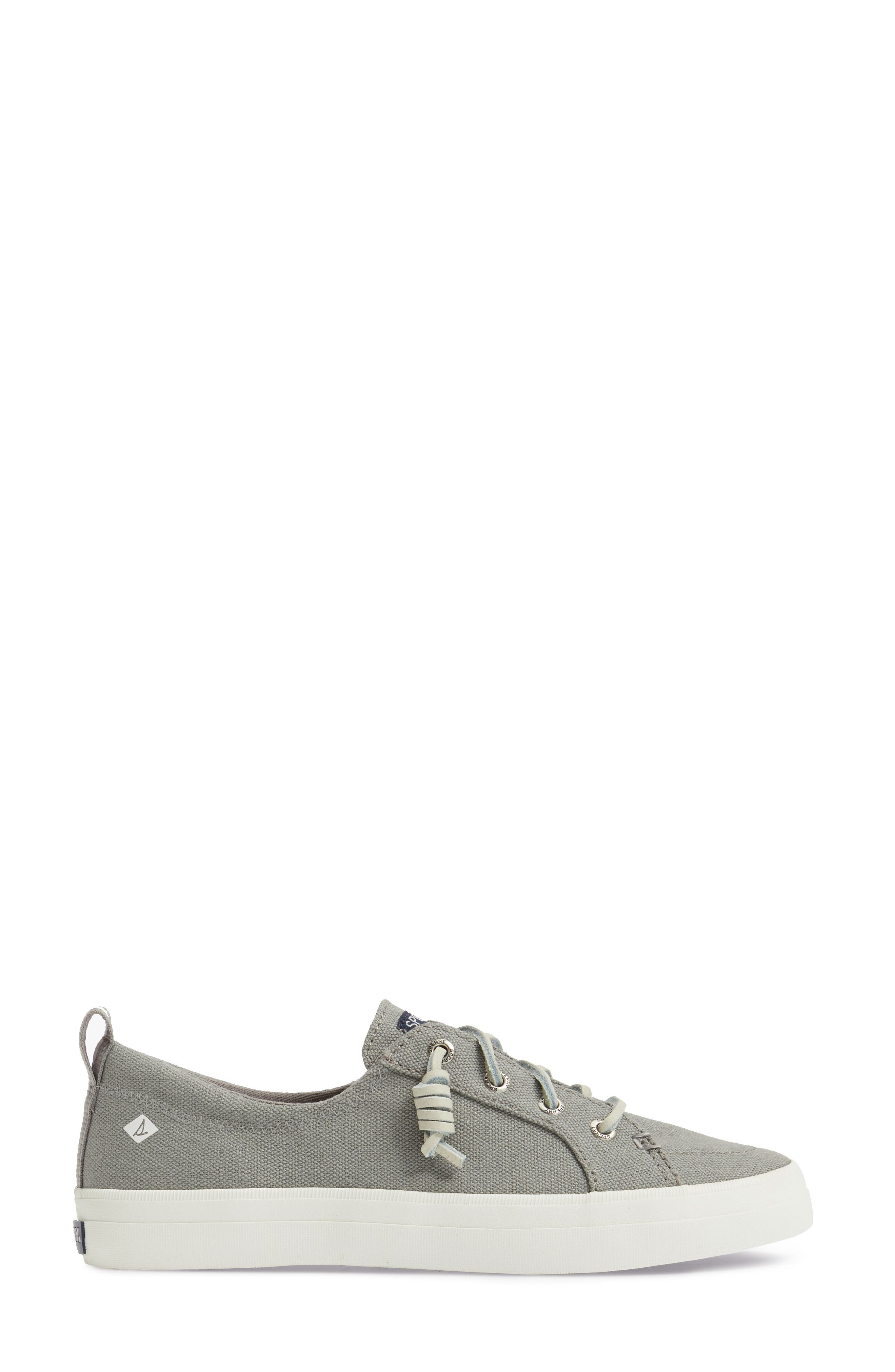 Crest Vibe Sneaker,                             Alternate thumbnail 3, color,                             Grey Canvas