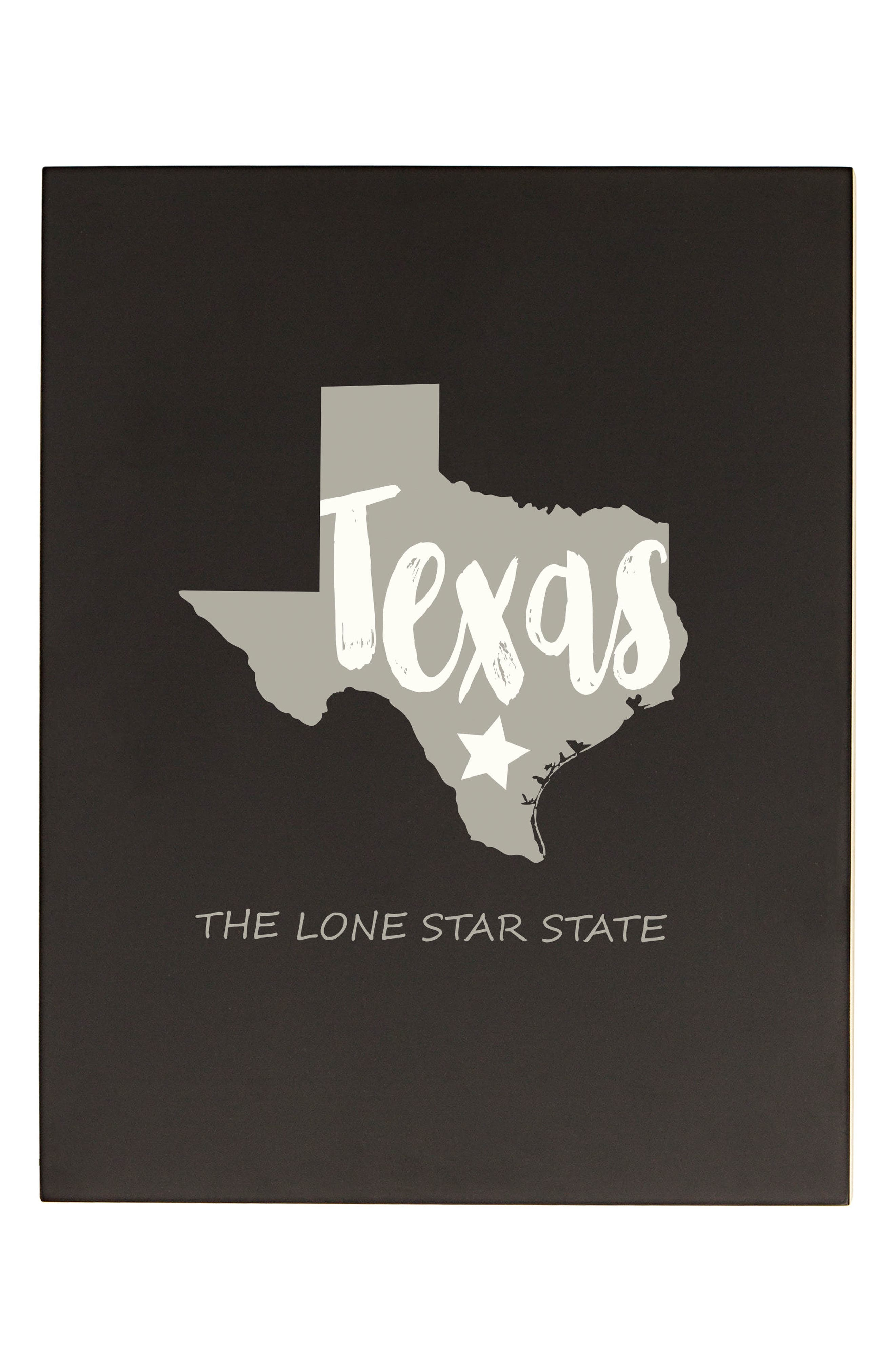 My State Chalkboard Sign,                             Main thumbnail 1, color,                             Black - Tx