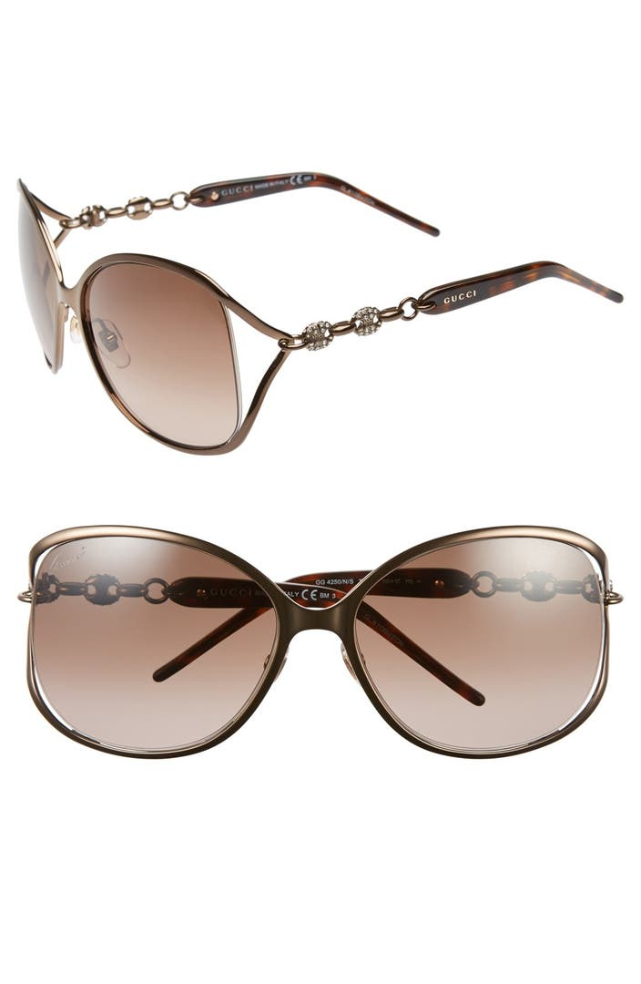 1aefce2f7e979 Gucci   39 Marina Chain  39  60mm Swarovski Crystal Sunglasses
