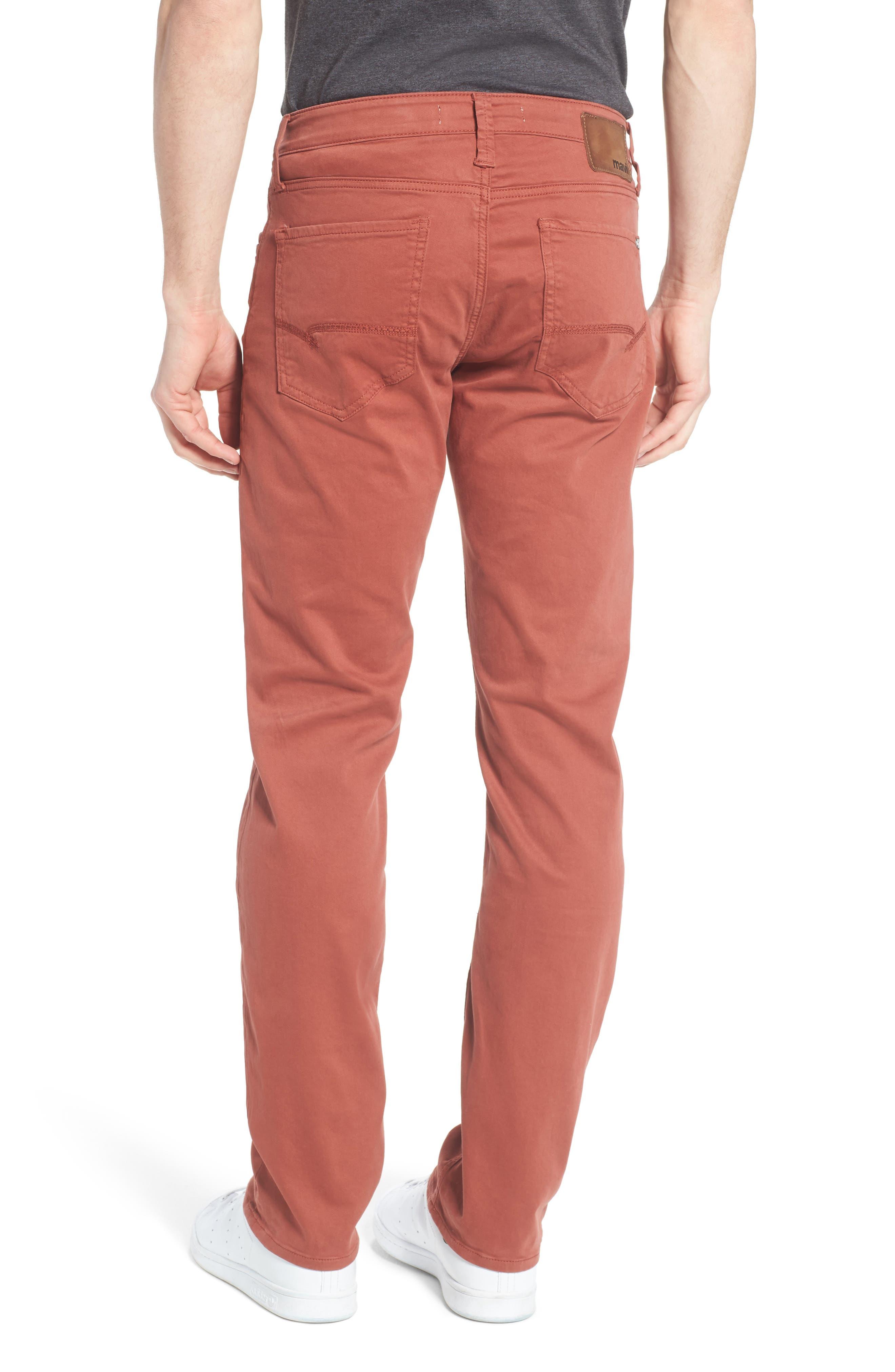 Alternate Image 2  - Mavi Jeans Zach Straight Leg Jeans (Brick Red Twill)