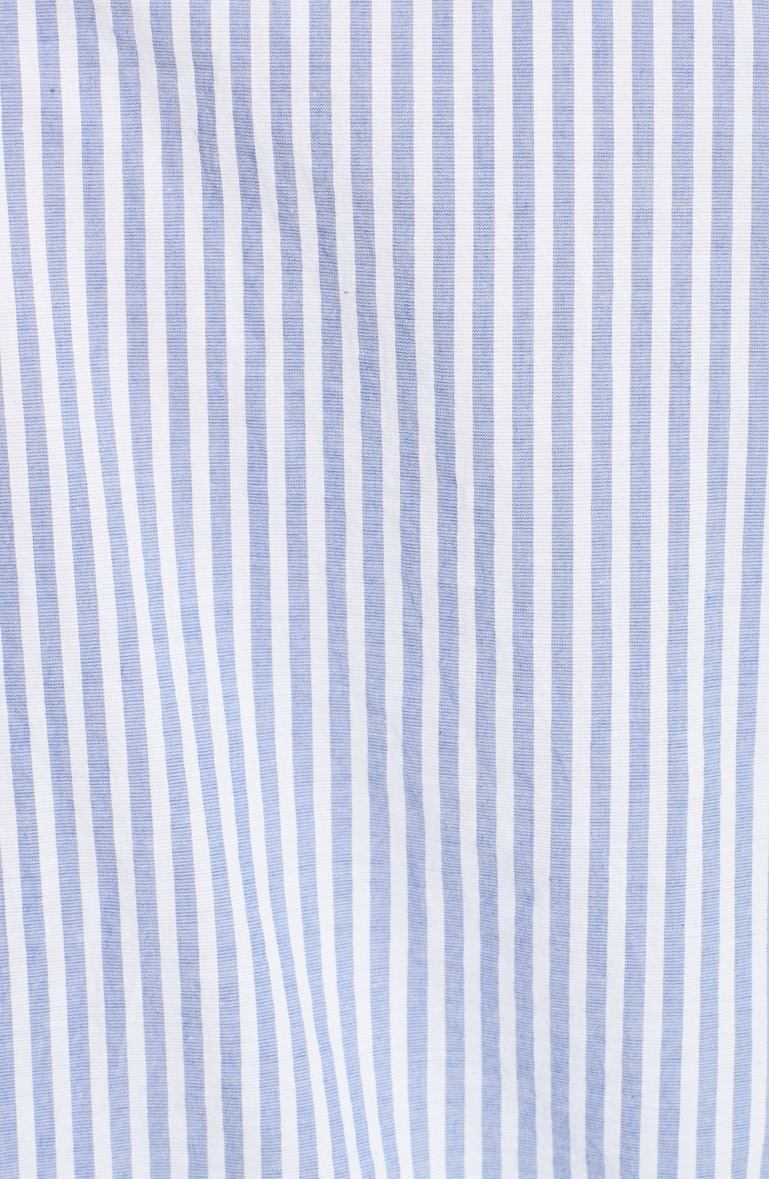 Benfleet Stripe Cotton Top,                             Alternate thumbnail 3, color,                             Pale Blue/ White