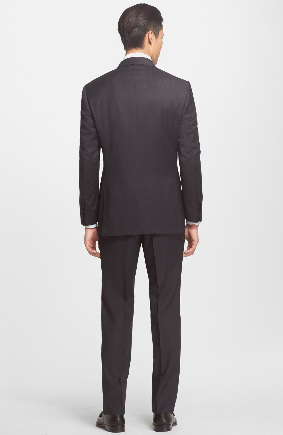 Alternate Image 2  - Canali Trim Fit Wool Suit