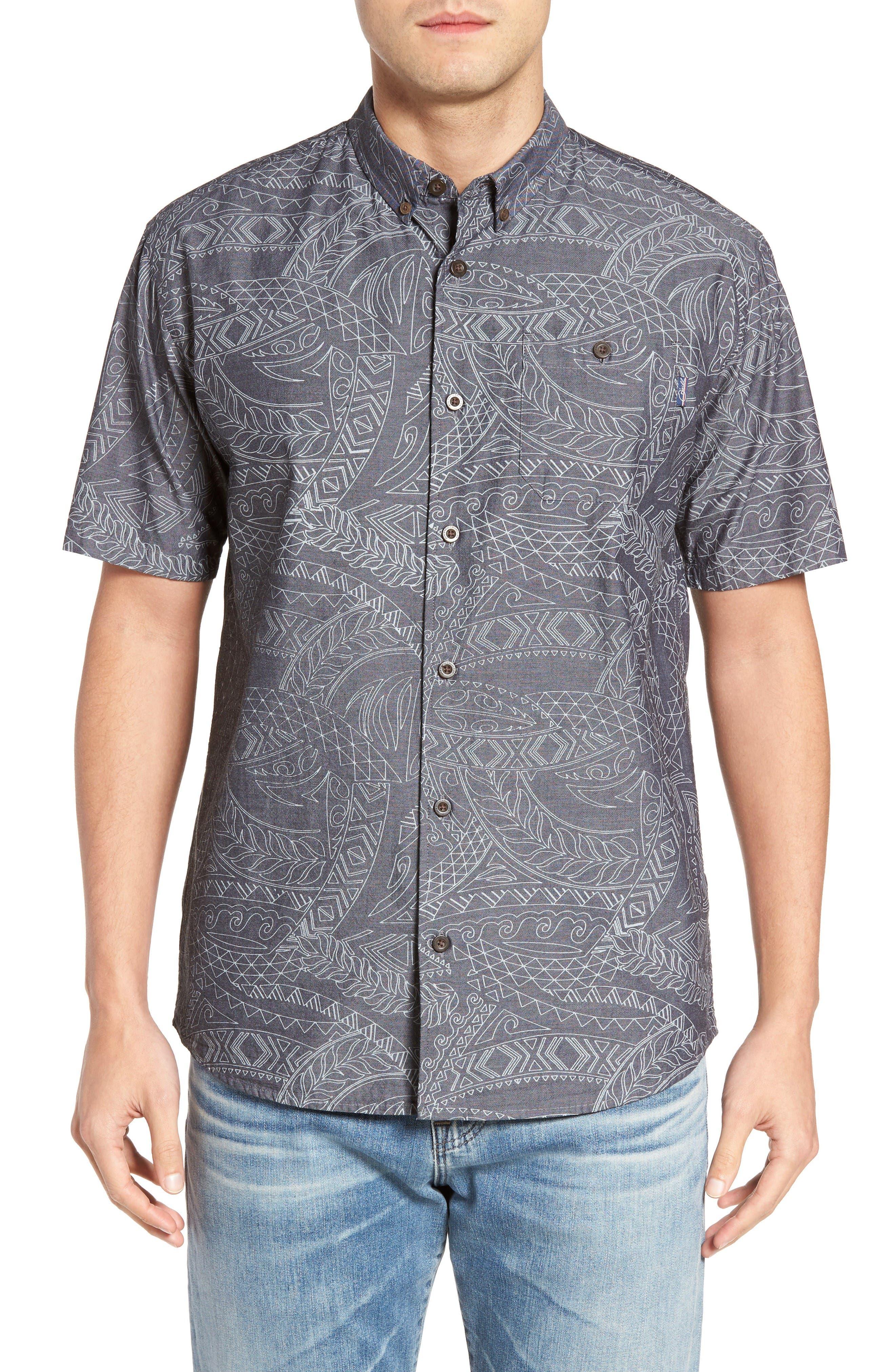 Alika Print Sport Shirt,                         Main,                         color, Black