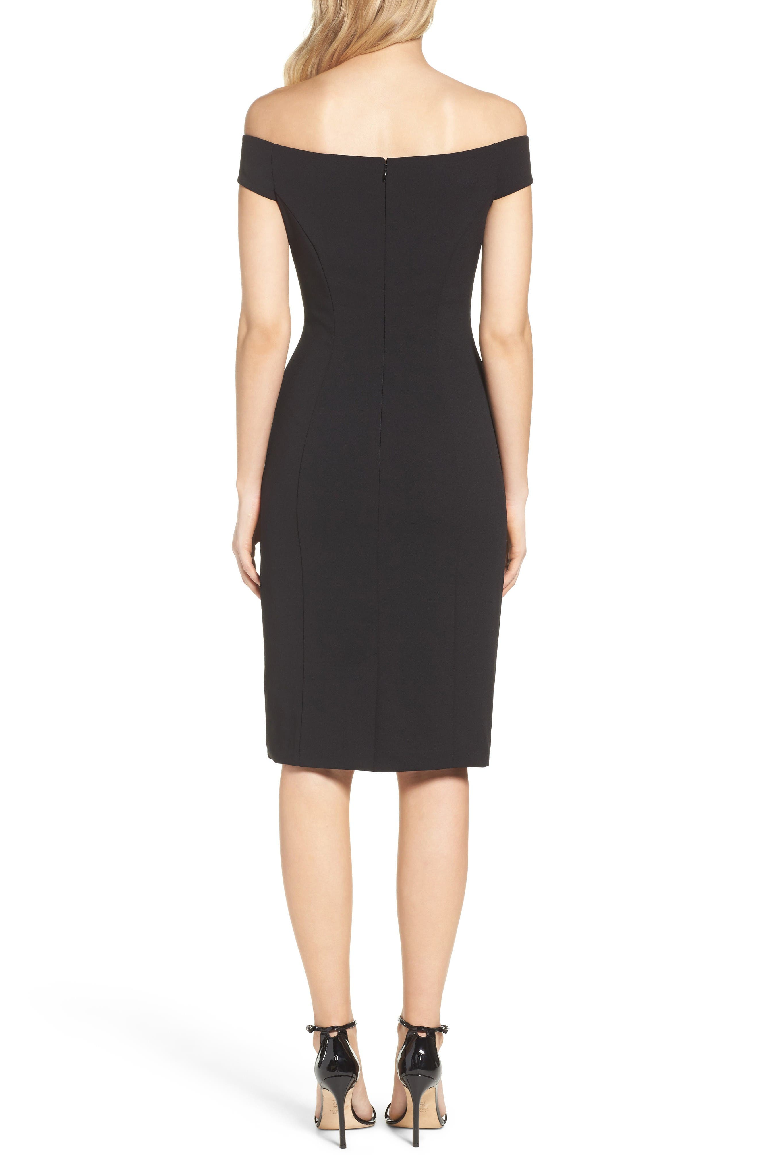 Alternate Image 2  - Vince Camuto Crepe Sheath Dress (Regular & Petite)