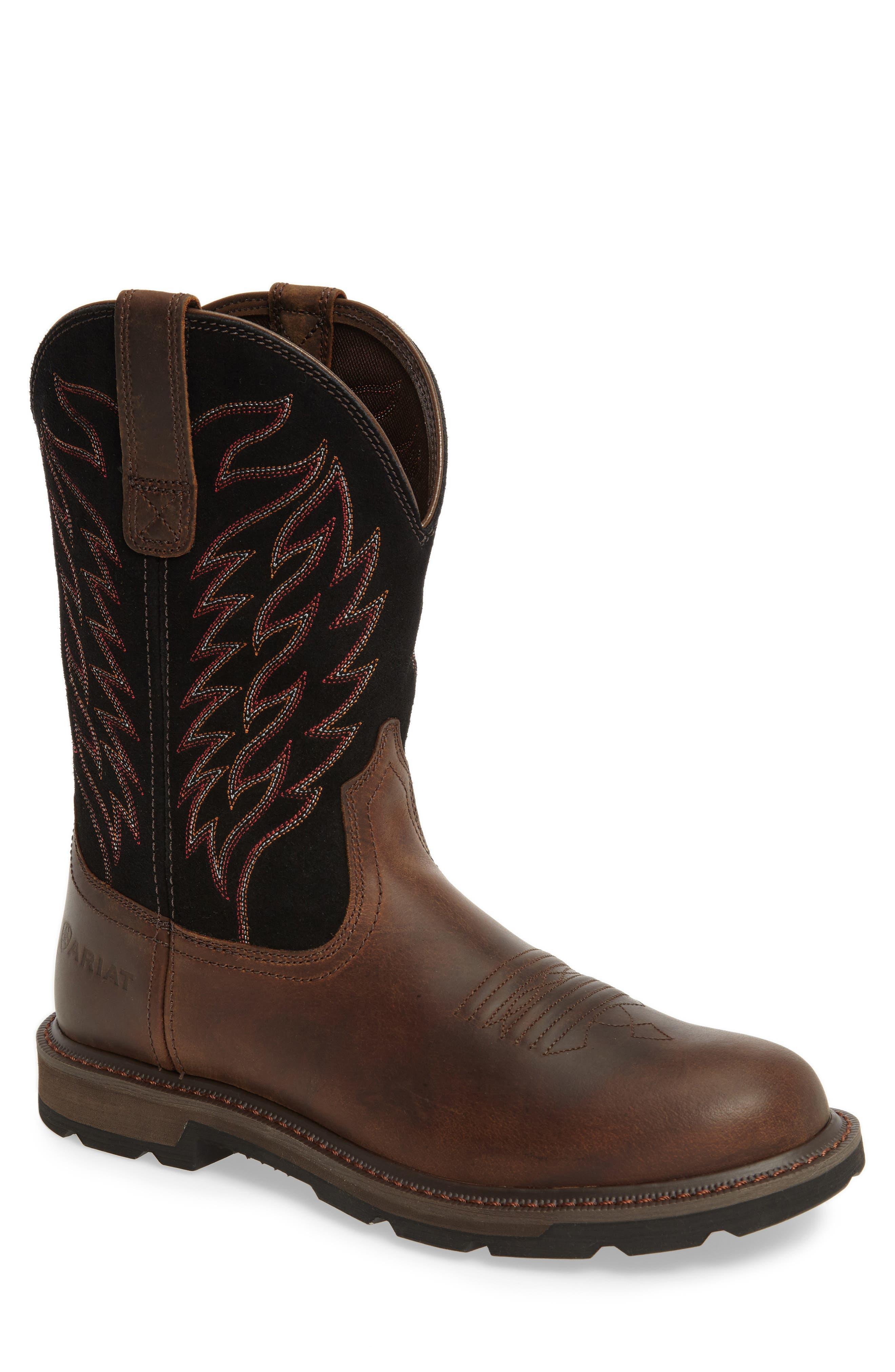 Groundbreaker Tall Boot,                         Main,                         color, Brown
