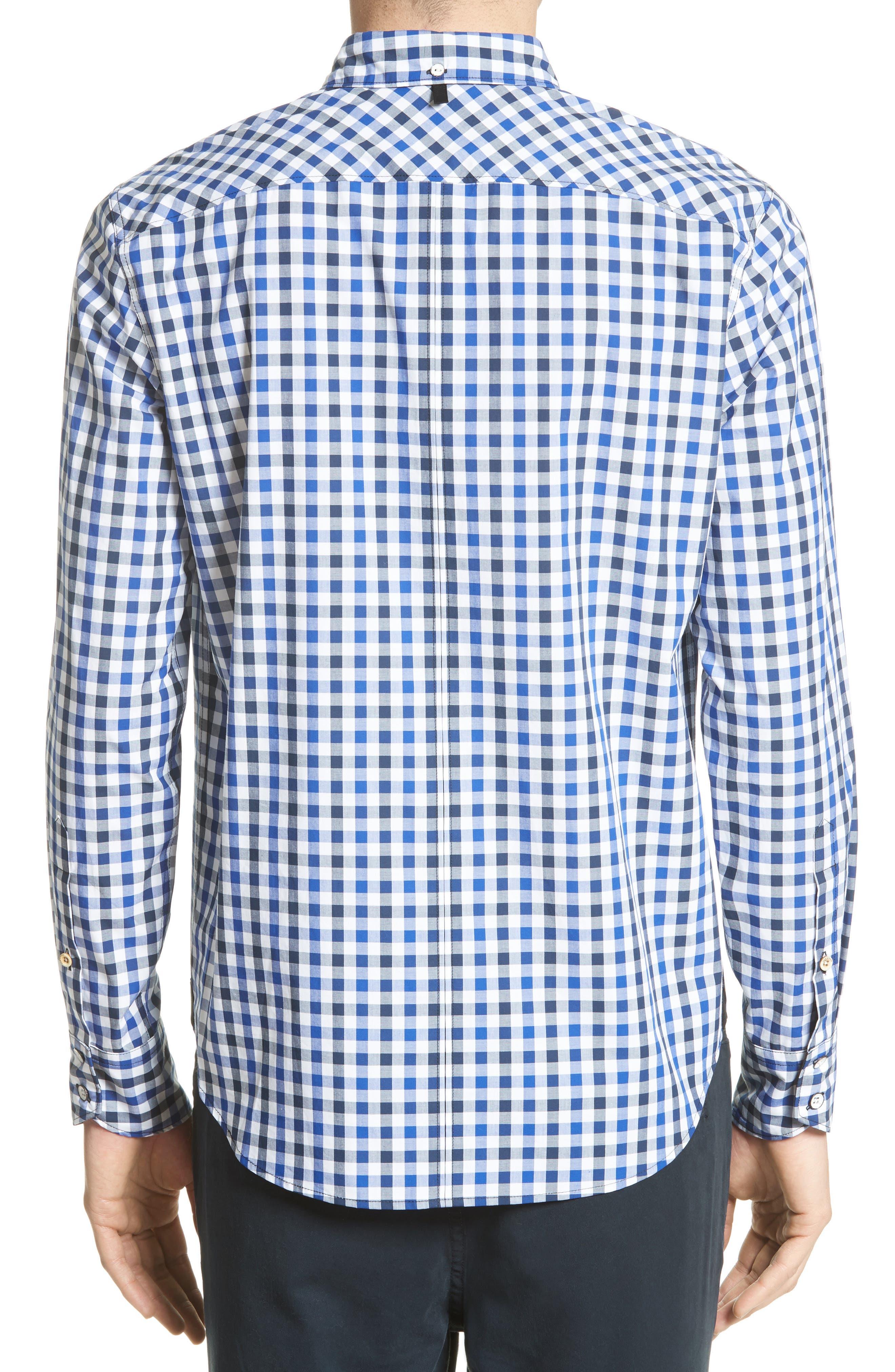 Tomlin Check Sport Shirt,                             Alternate thumbnail 2, color,                             Navy Check