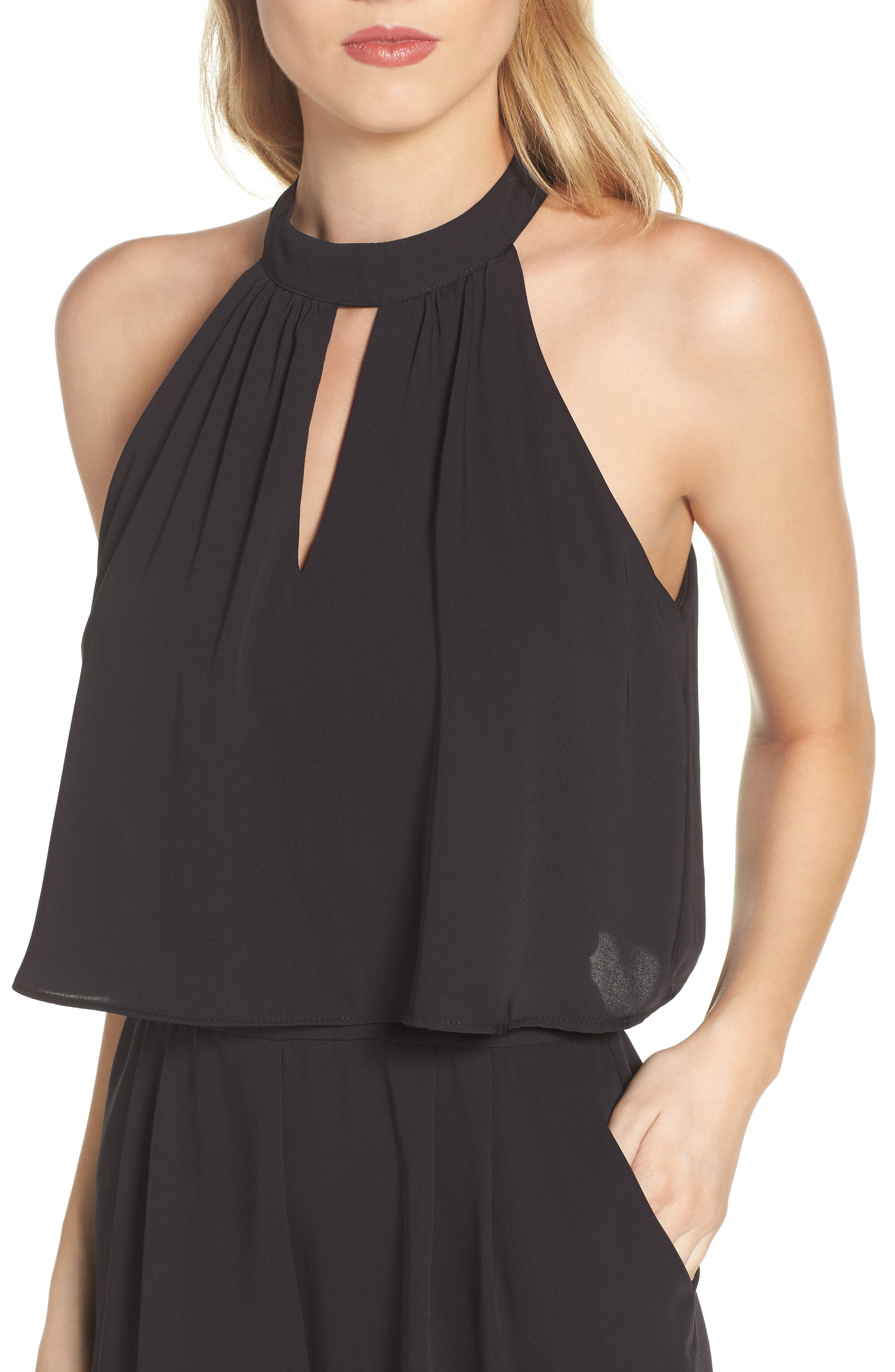 Nayden Popover Jumpsuit,                             Alternate thumbnail 4, color,                             Black