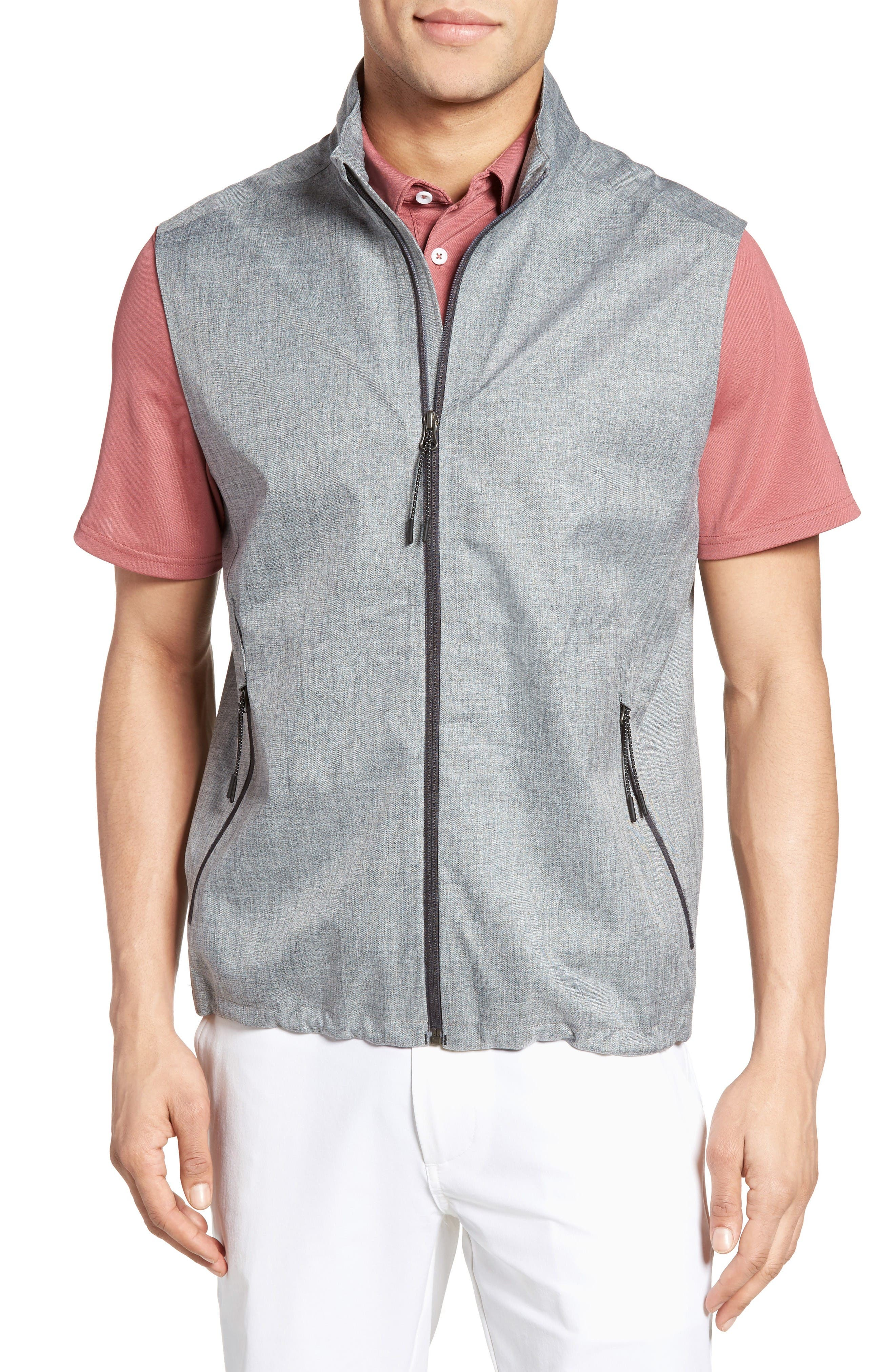 The Newton Vest,                         Main,                         color, Heather Grey