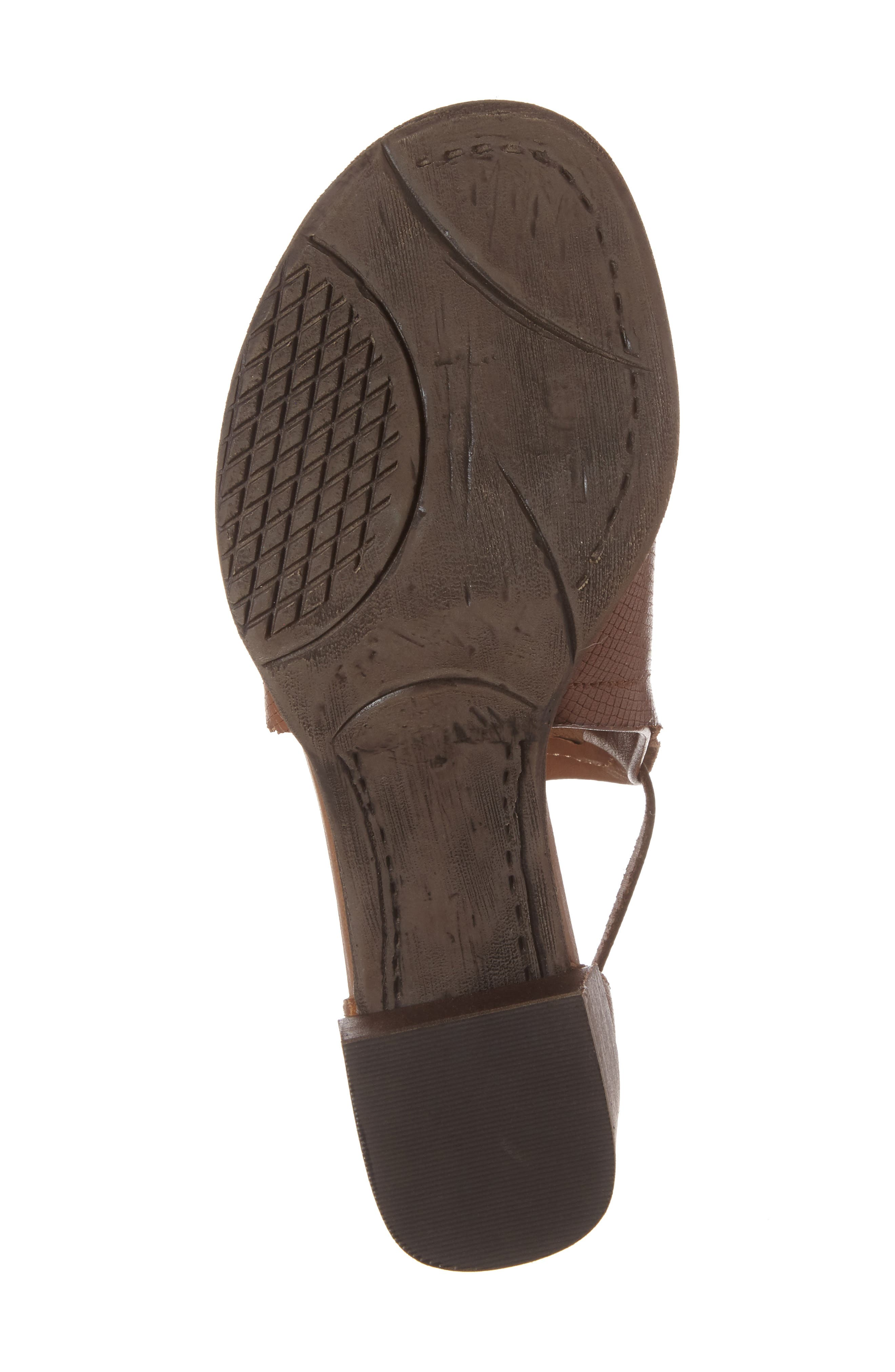 Metaphor Open Side Bootie,                             Alternate thumbnail 6, color,                             Medium Brown Leather