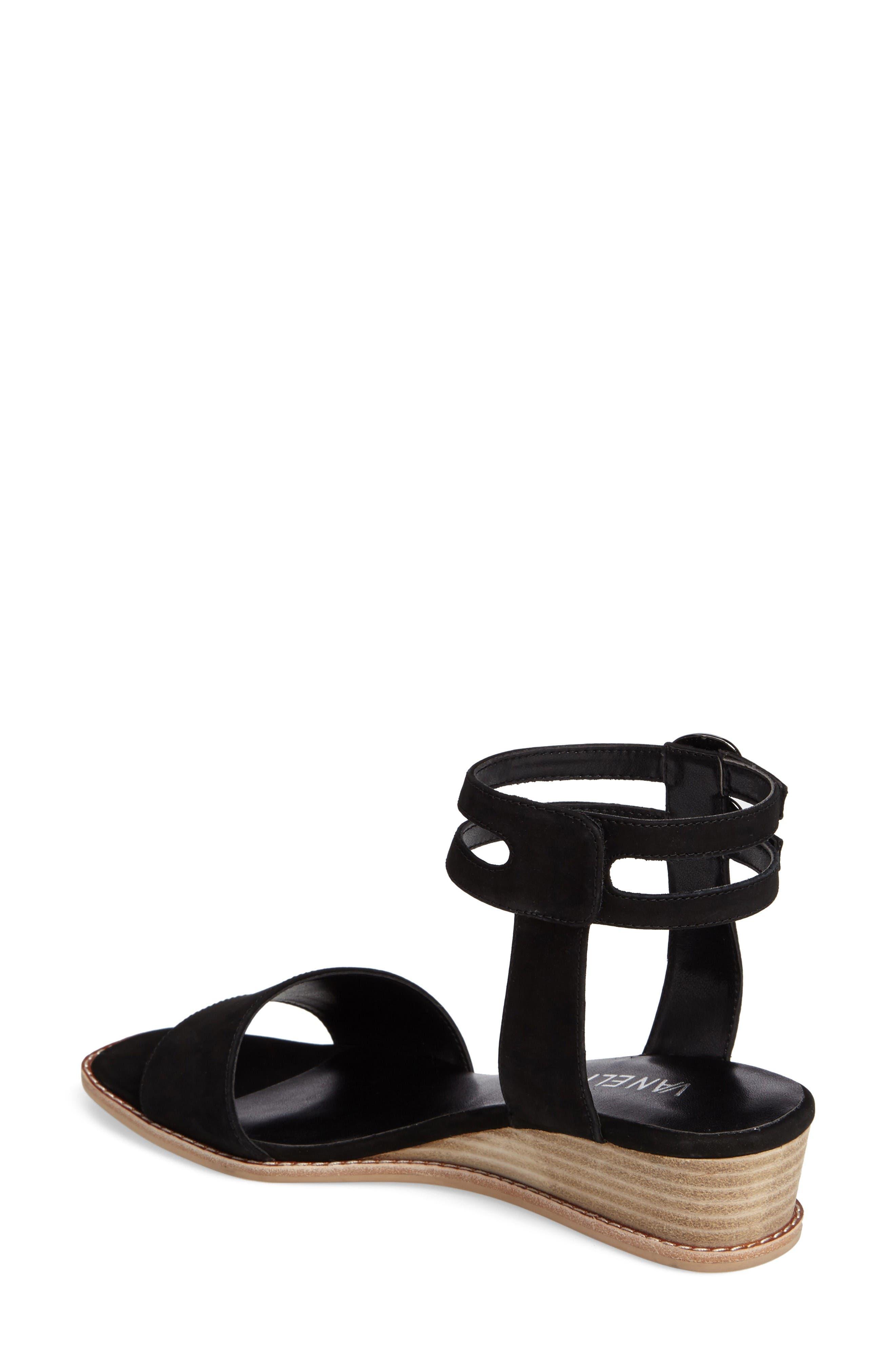 Jarita Ankle Strap Sandal,                             Alternate thumbnail 2, color,                             Black Leather