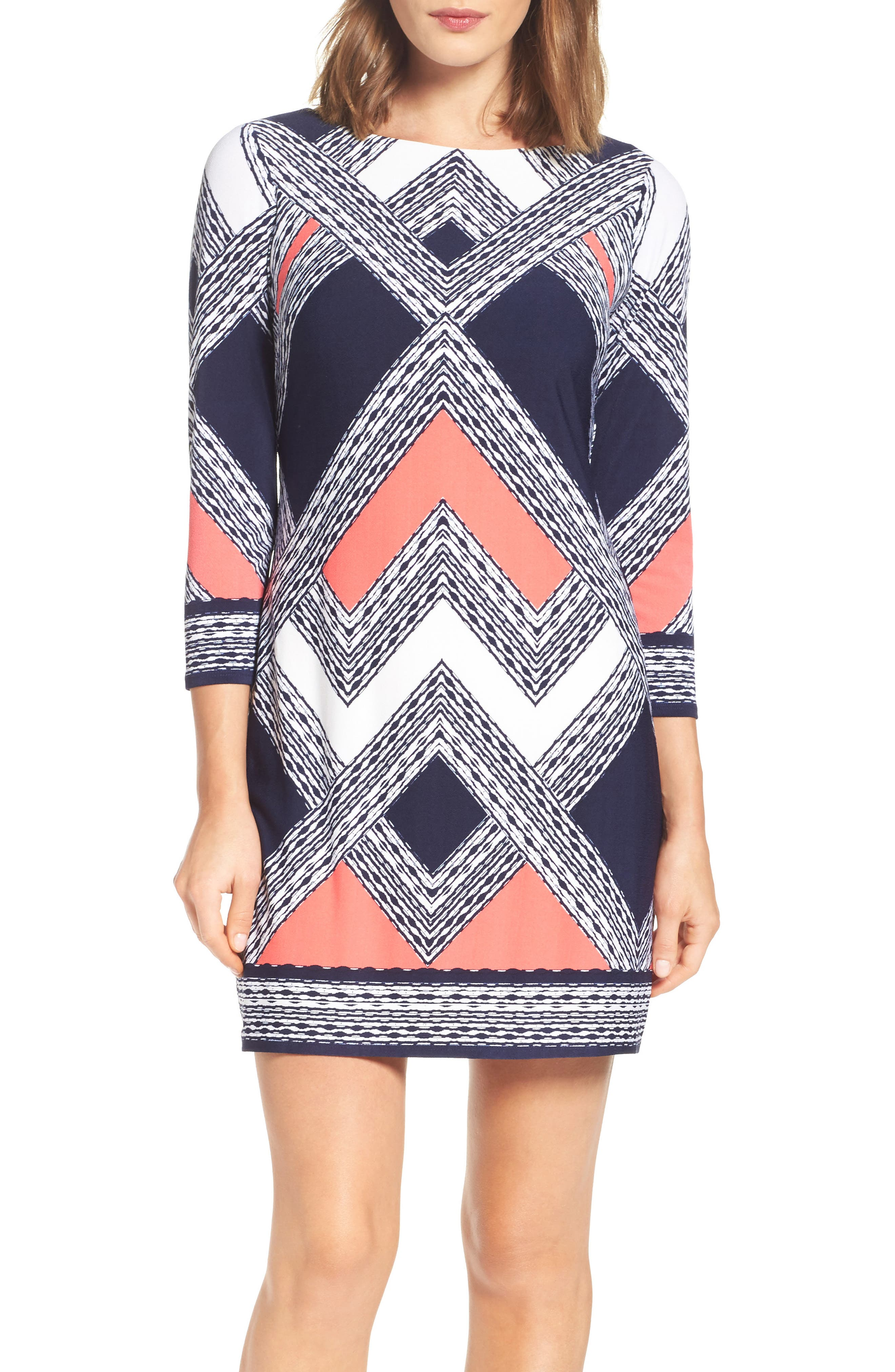 Alternate Image 1 Selected - Vince Camuto Crepe Shift Dress