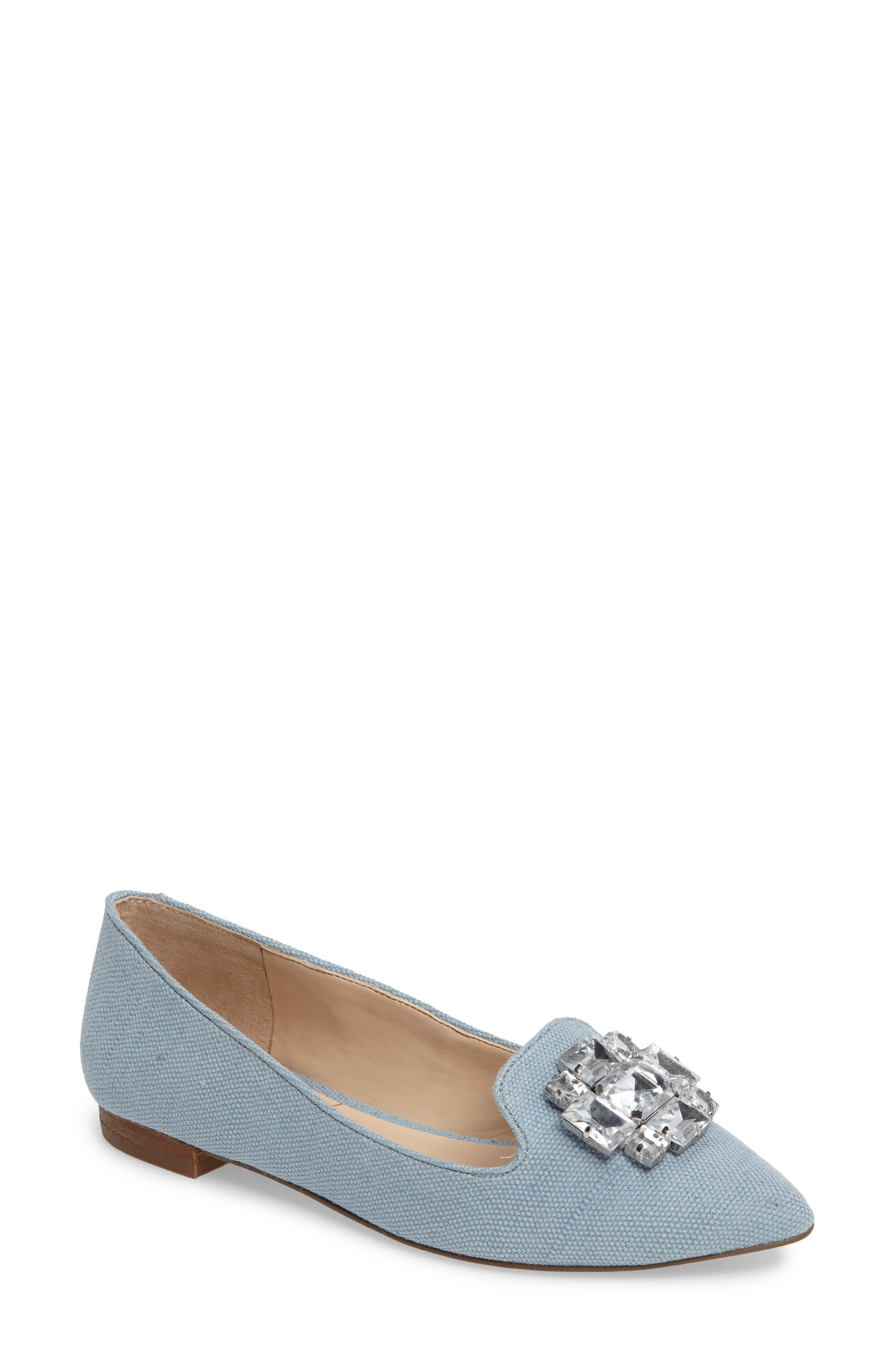 Main Image - Sole Society 'Libry' Embellished Pointy Toe Flat (Women)