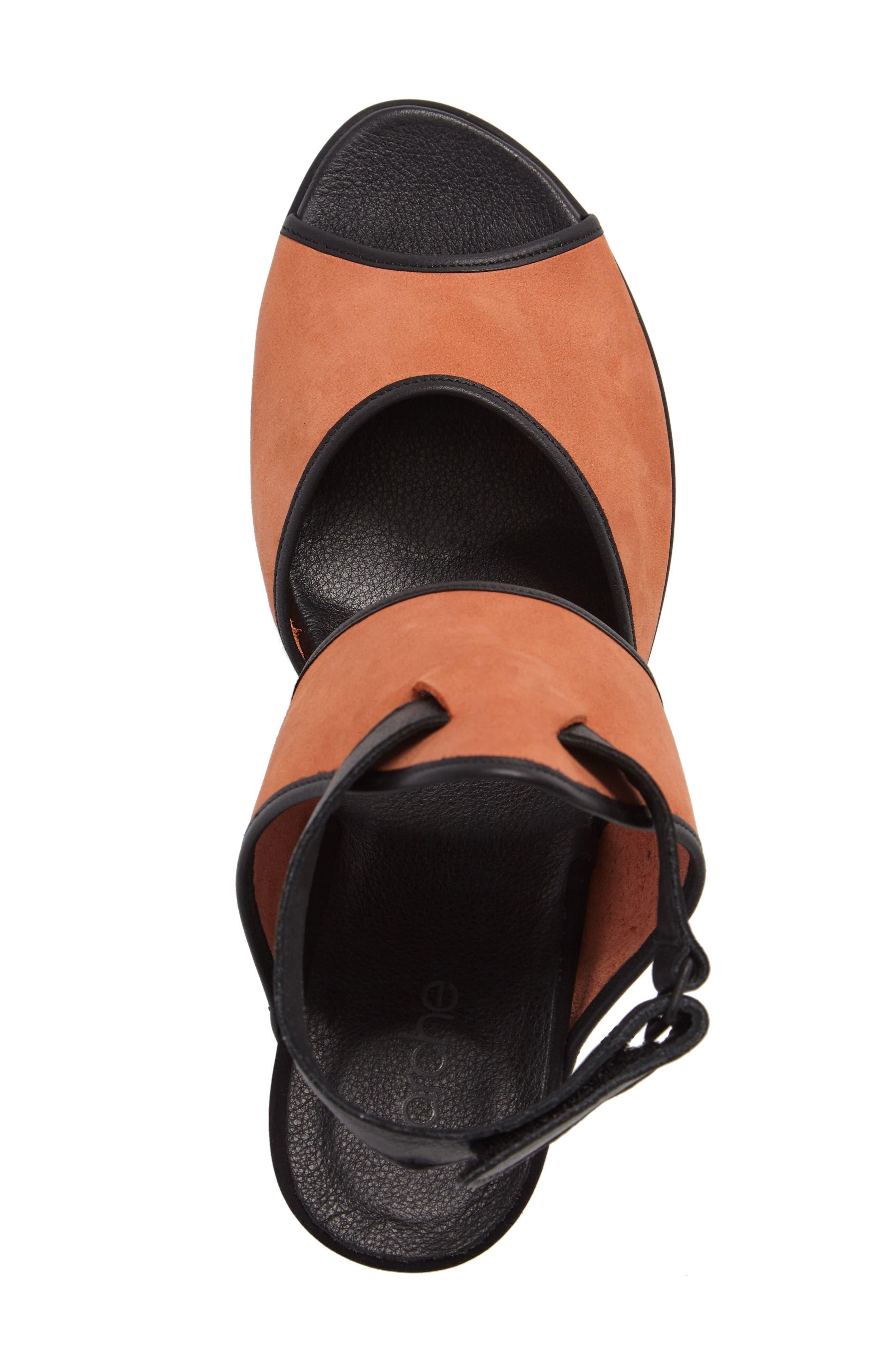 Leiga Sandal,                             Alternate thumbnail 5, color,                             Morgane Nubuck Leather