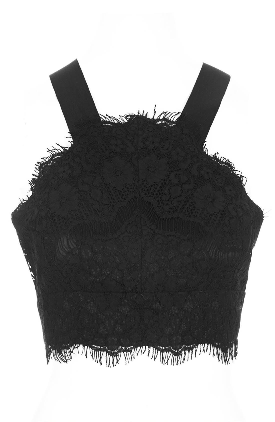 Alternate Image 3  - Topshop Lace Bralette