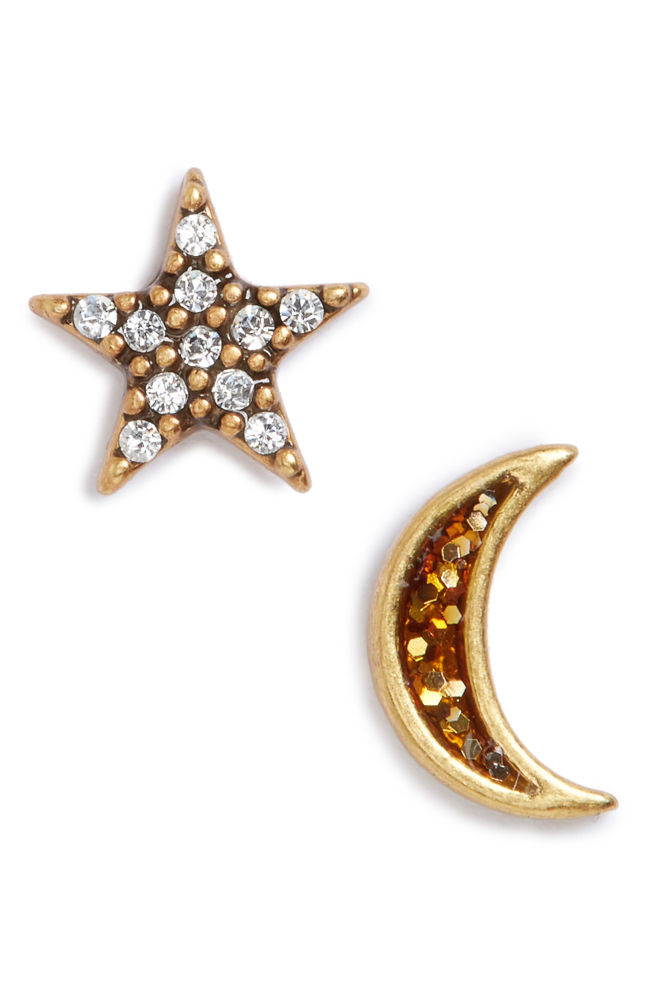 Alternate Image 1 Selected - MARC JACOBS Moon & Star Mismatch Stud Earrings
