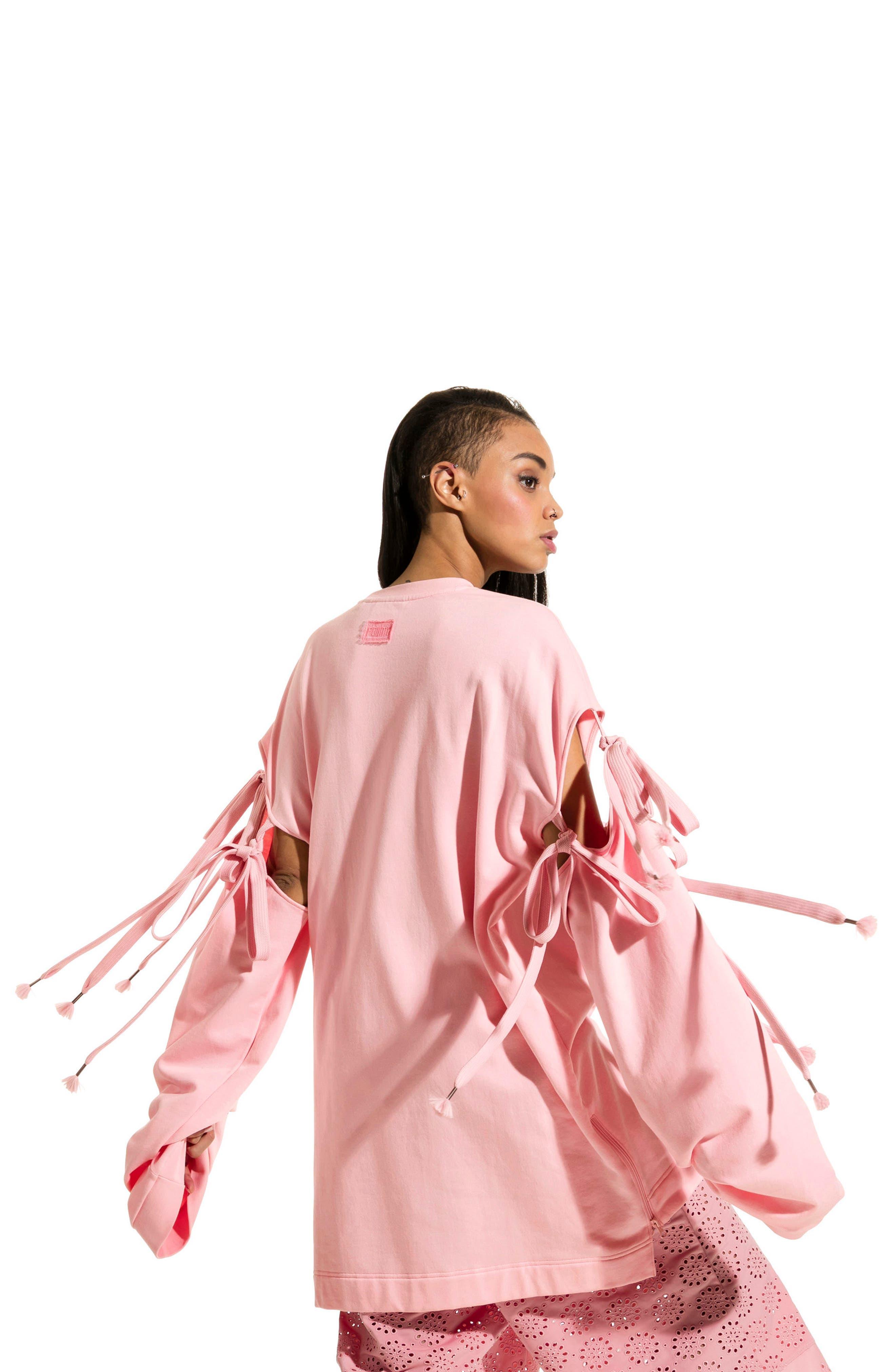 Alternate Image 3  - FENTY PUMA by Rihanna Oversize Convertible Sleeve Sweatshirt