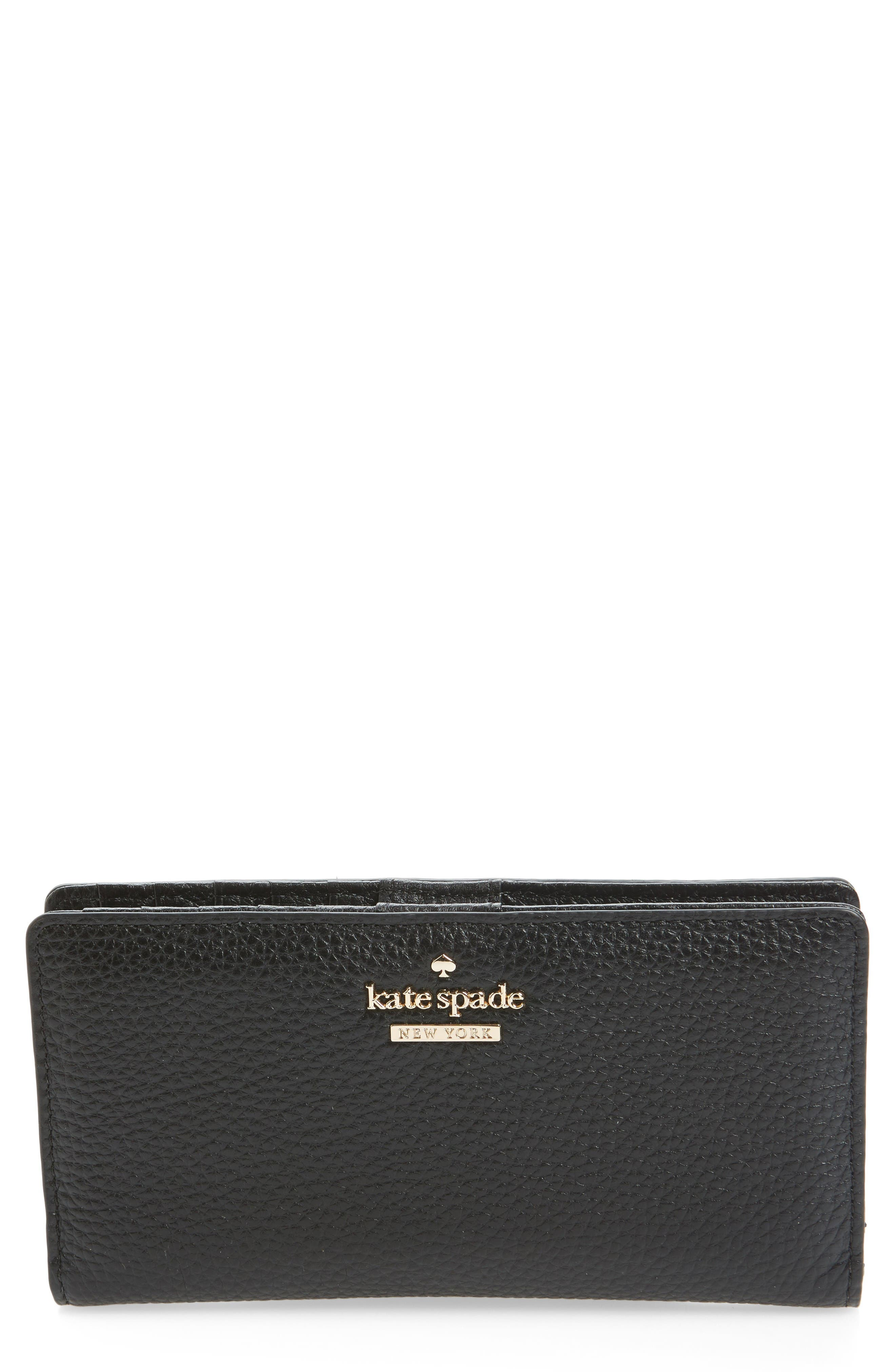 jackson street stacy leather wallet,                         Main,                         color, Black