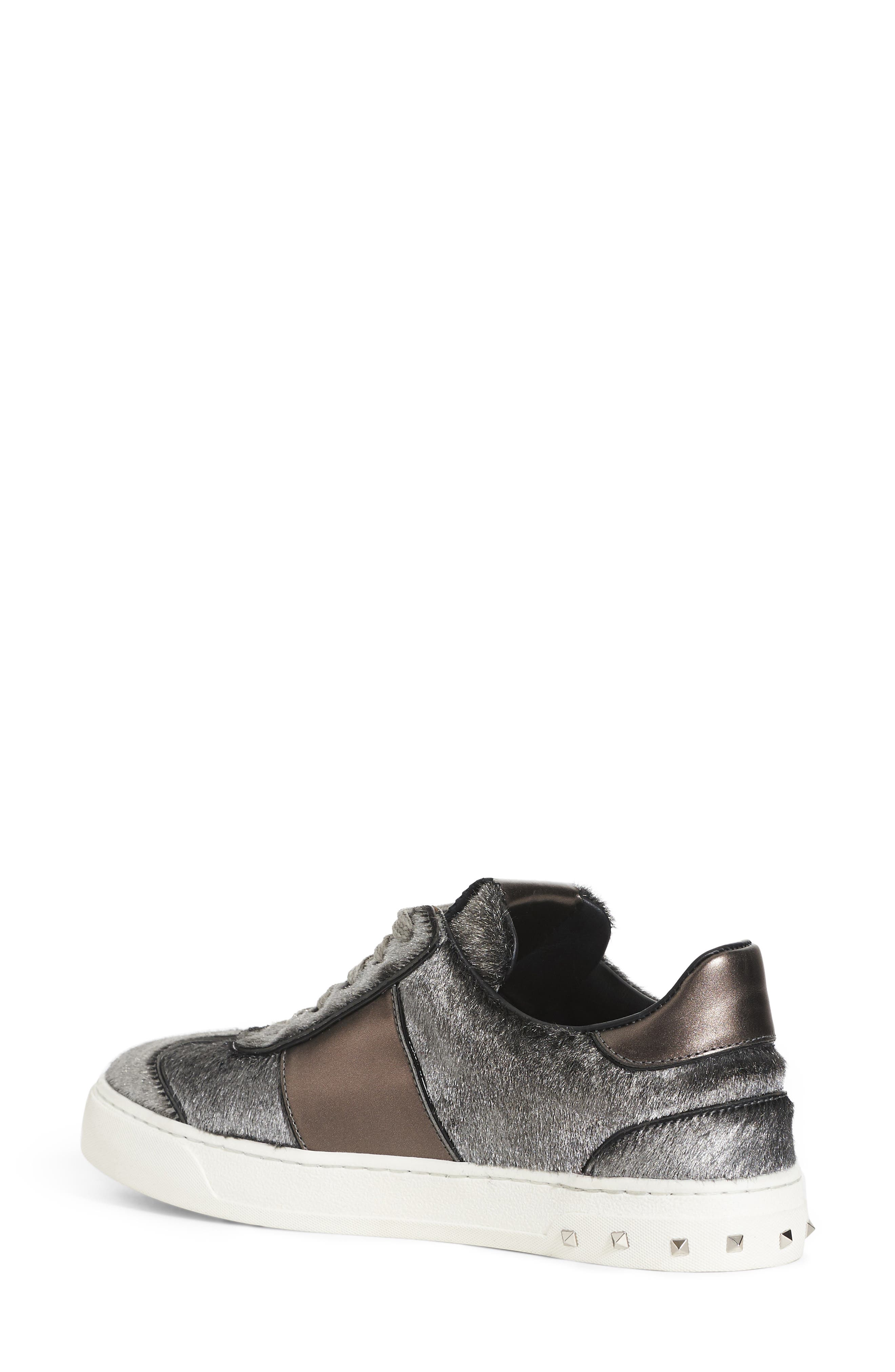 Alternate Image 2  - VALENTINO GARAVANI Flycrew Rockstud Genuine Calf Hair Sneaker (Women)
