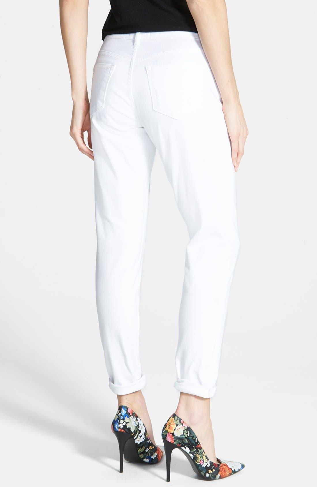 Alternate Image 2  - CJ by Cookie Johnson 'Glory' Slim Boyfriend Jeans (Optic White)