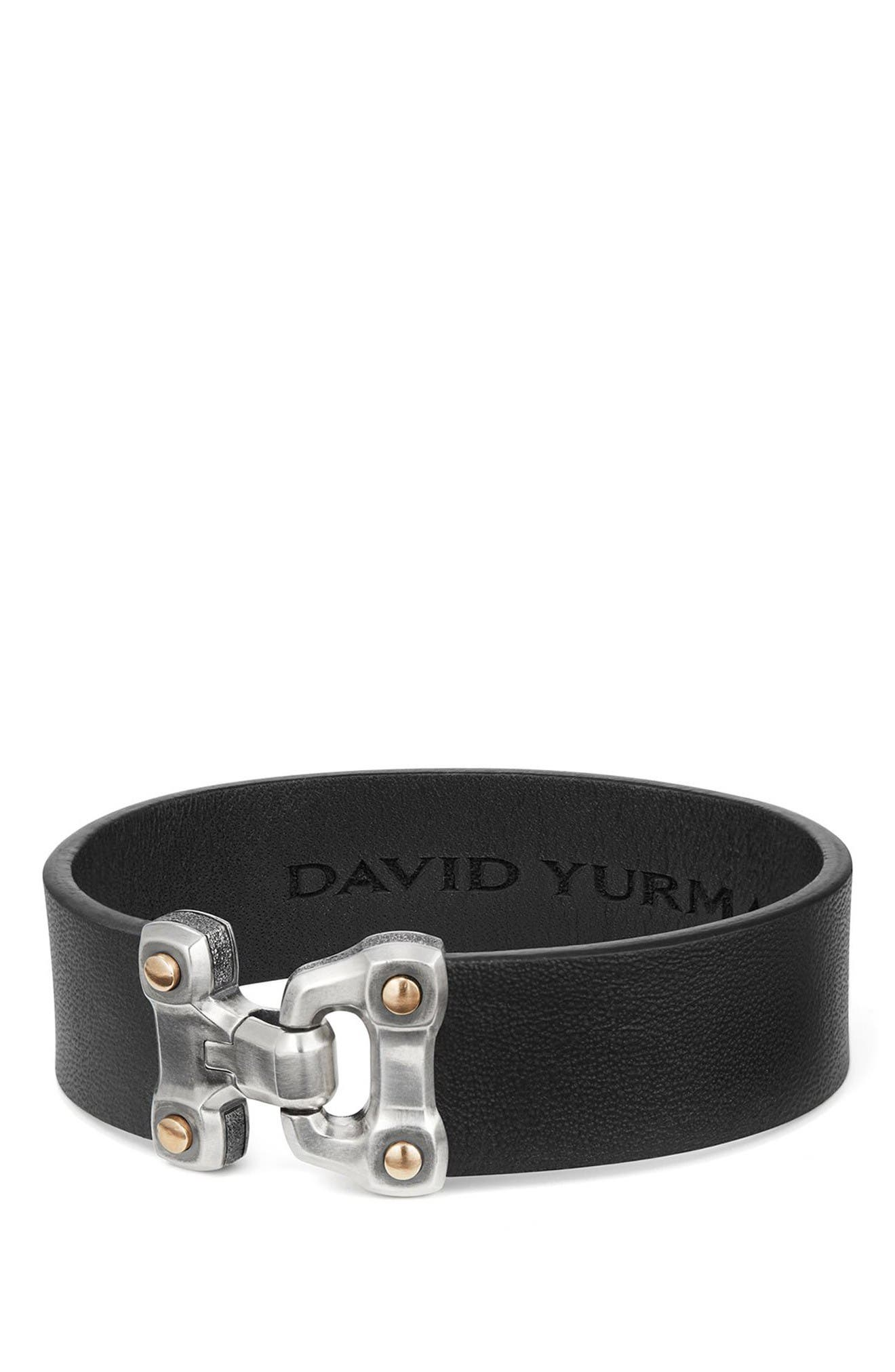 Alternate Image 1 Selected - David Yurman Anvil Leather Bracelet