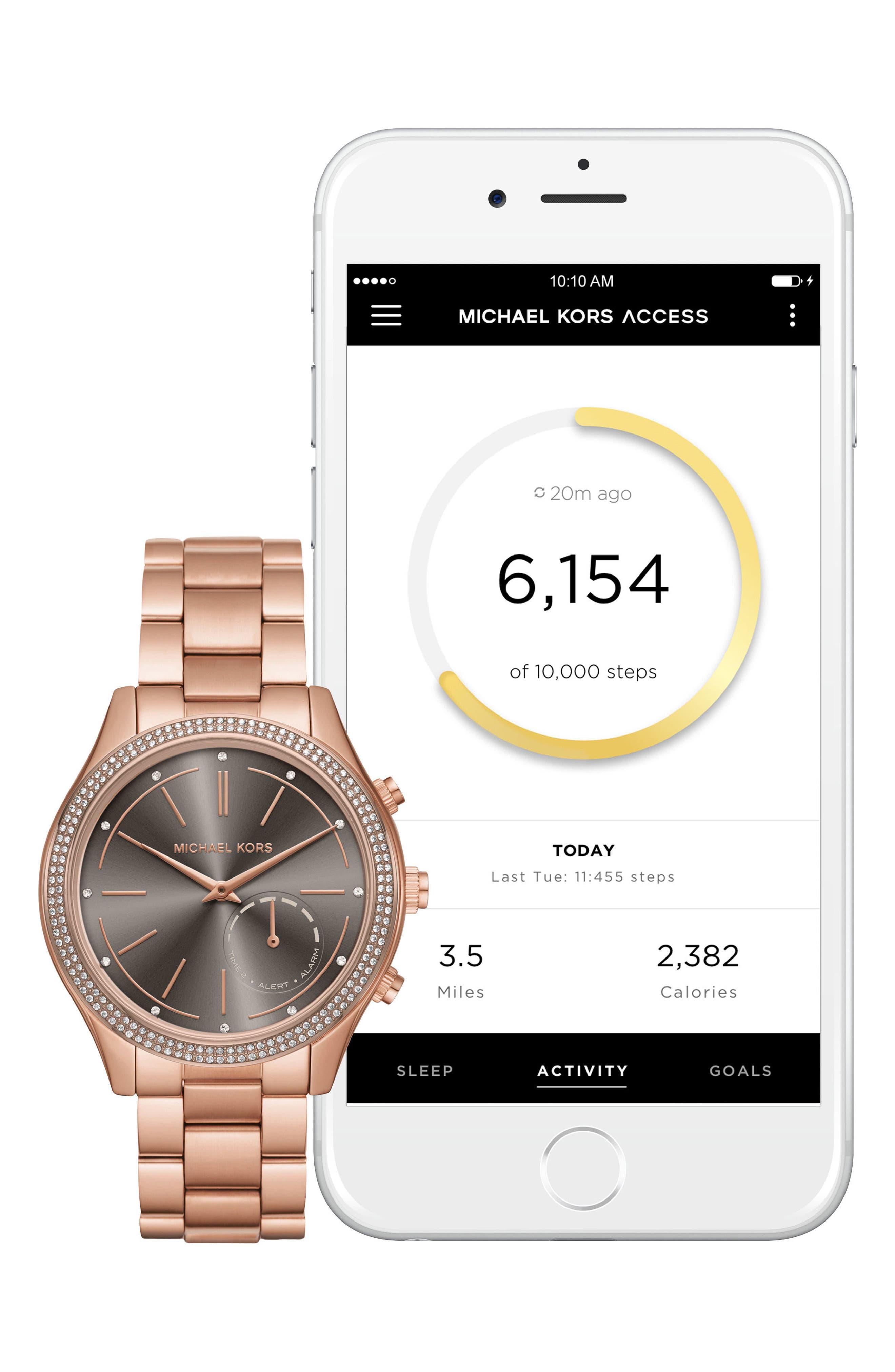 Access Smart Bracelet Watch, 42mm,                             Alternate thumbnail 6, color,                             Rose Gold/ Grey/ Rose Gold
