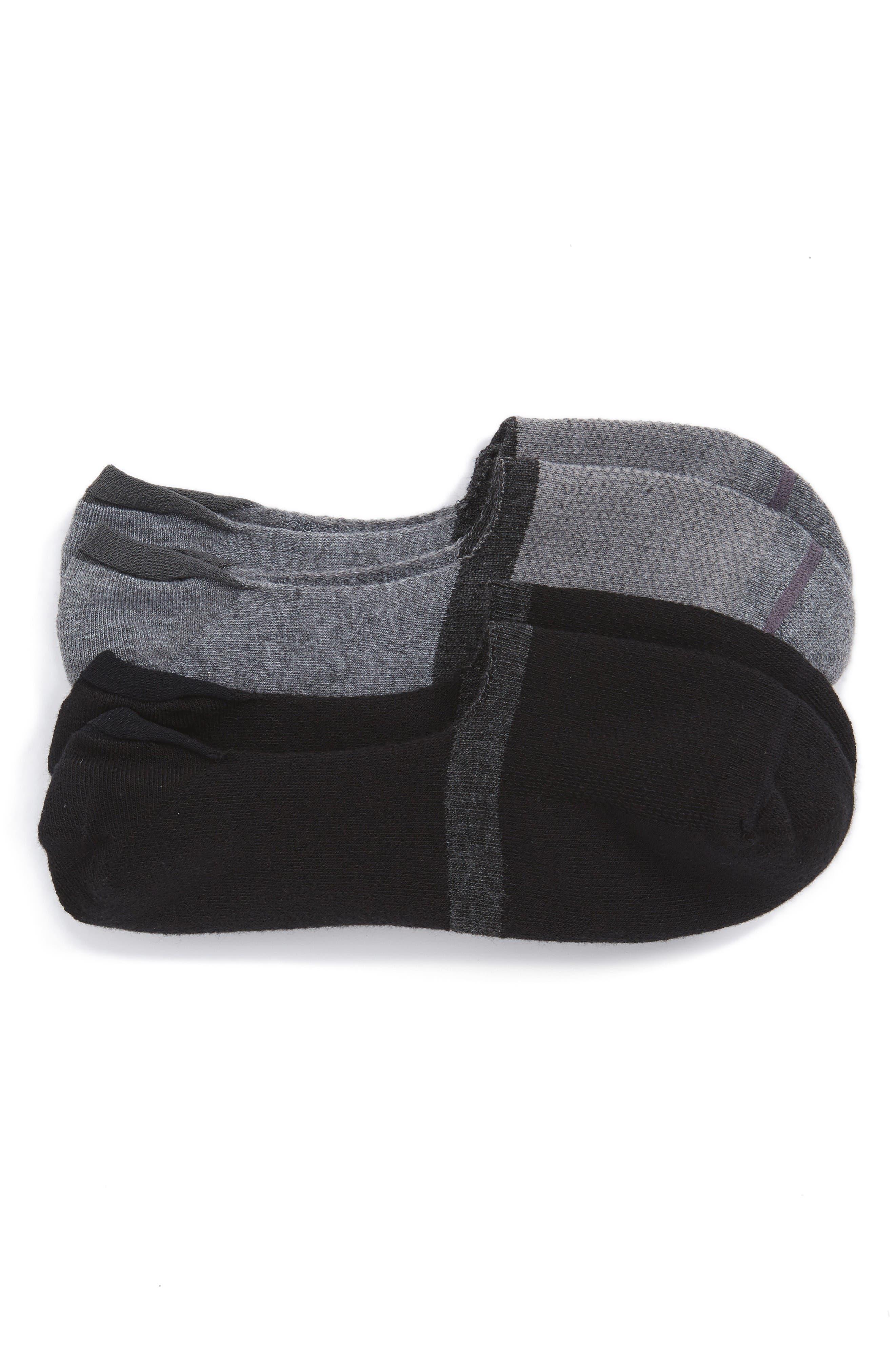 Nordstrom Men's Shop 2-Pack Performance Liner Socks (3 for $30)