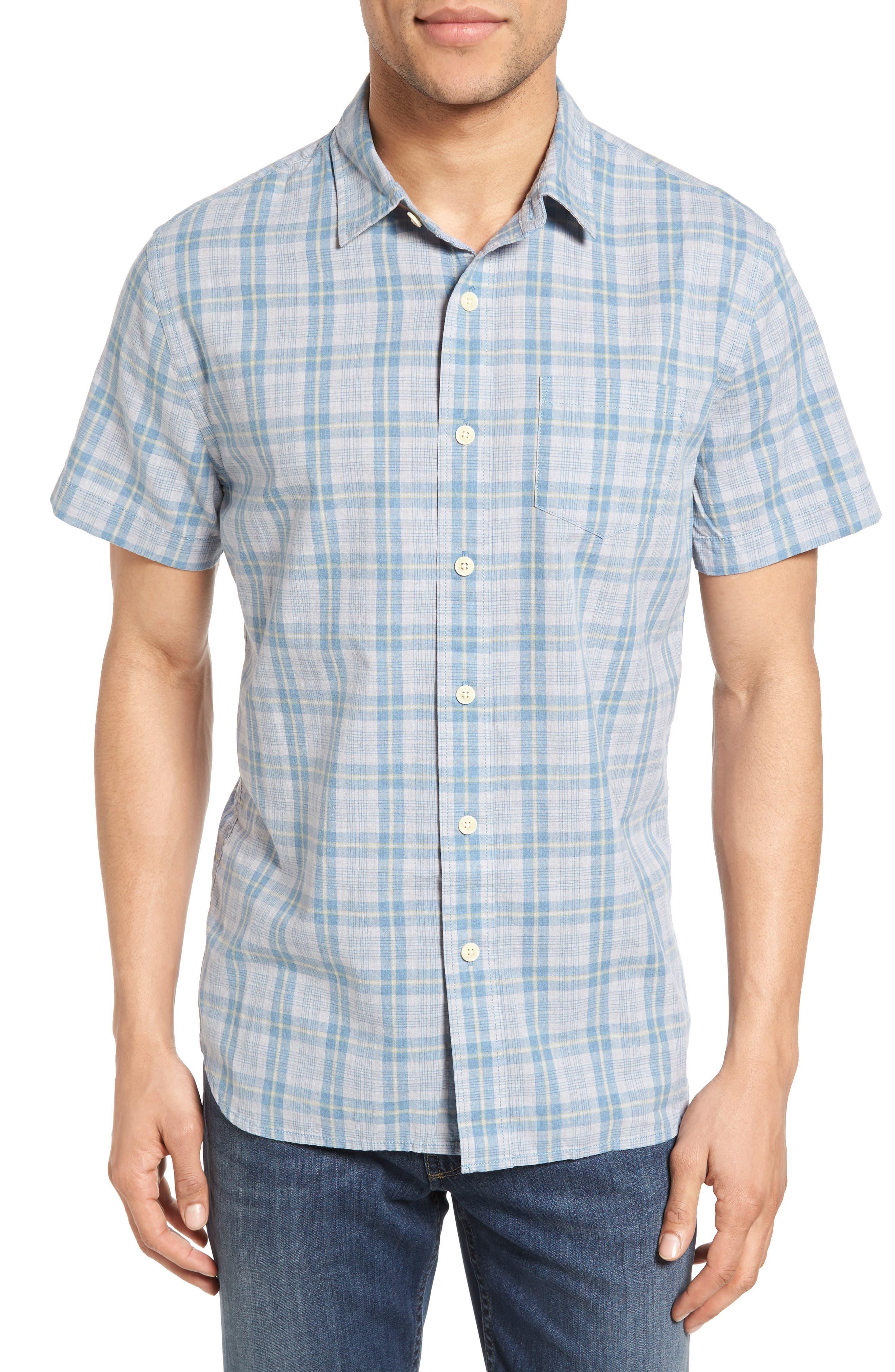 Grayers Sutton Trim Fit Plaid Sport Shirt