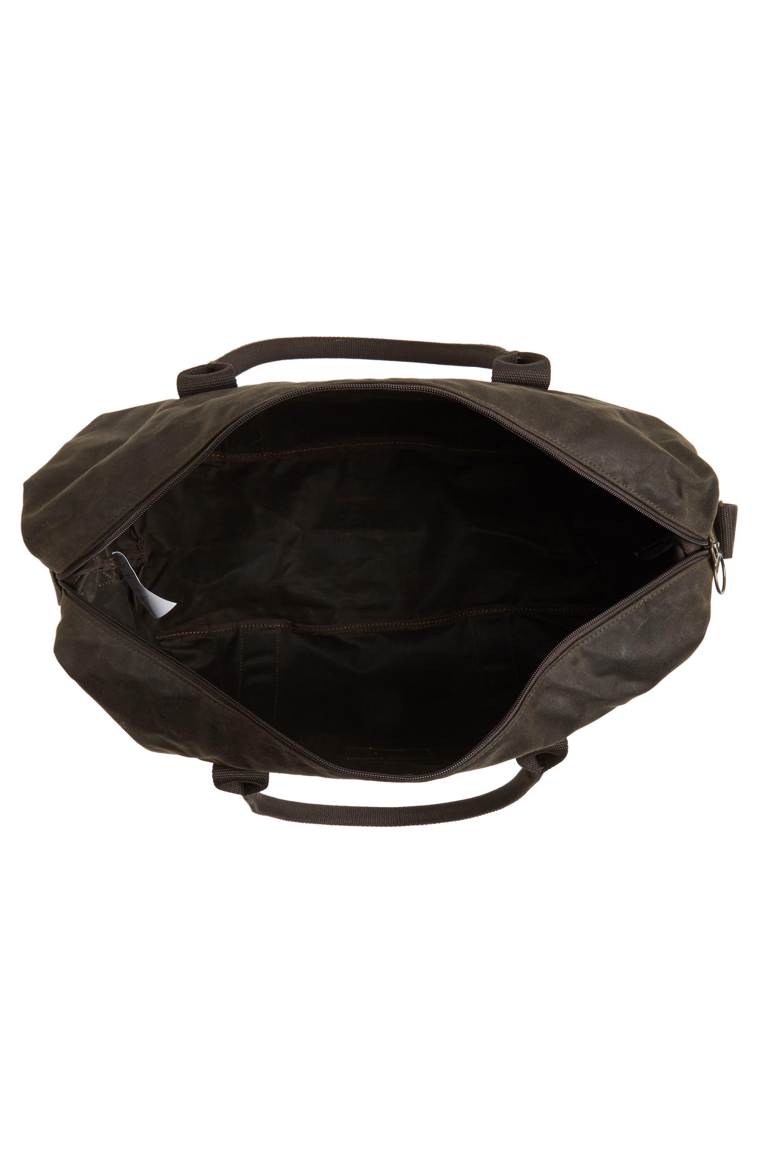 Dromond Canvas Holdall Bag,                             Alternate thumbnail 4, color,                             Olive